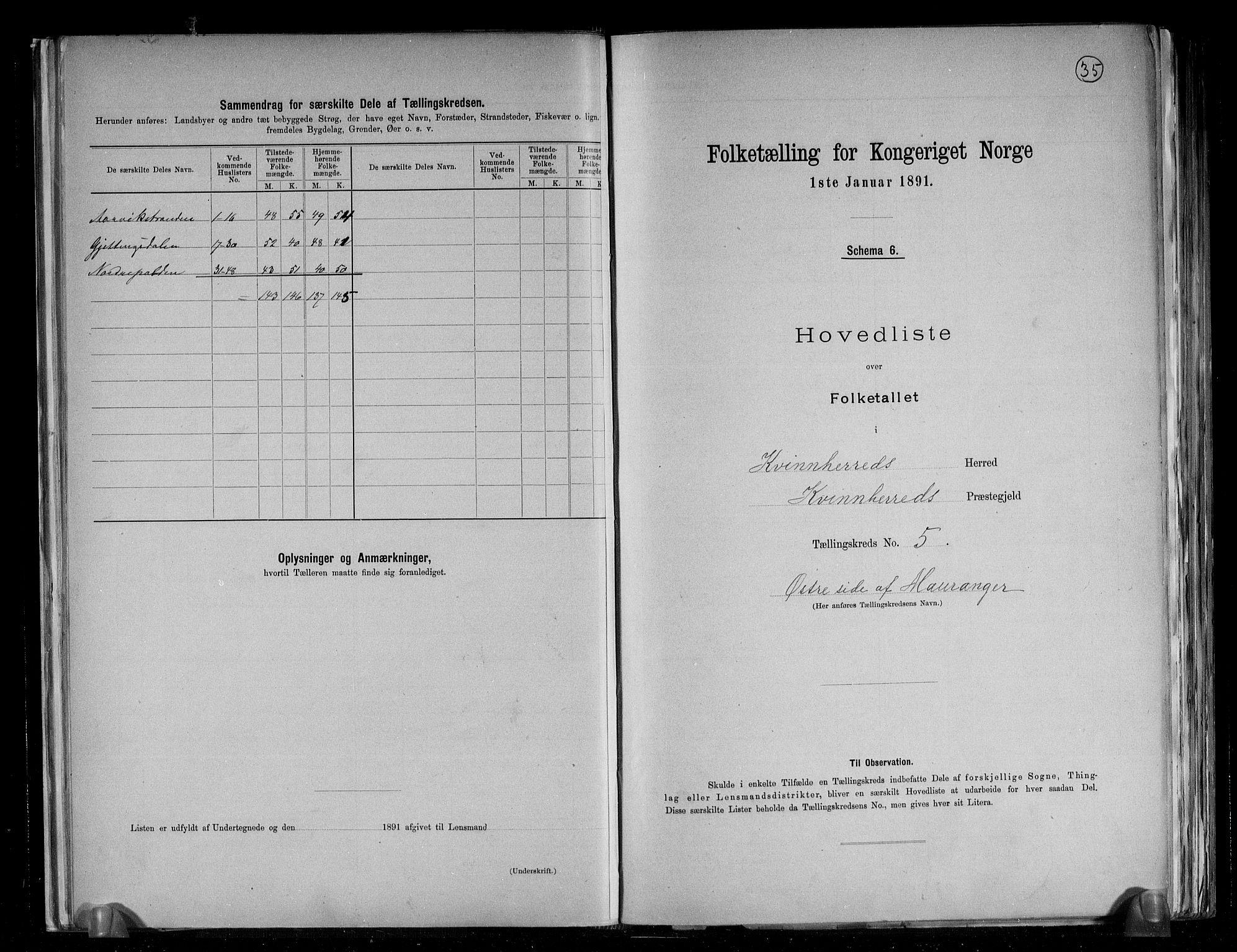 RA, Folketelling 1891 for 1224 Kvinnherad herred, 1891, s. 15