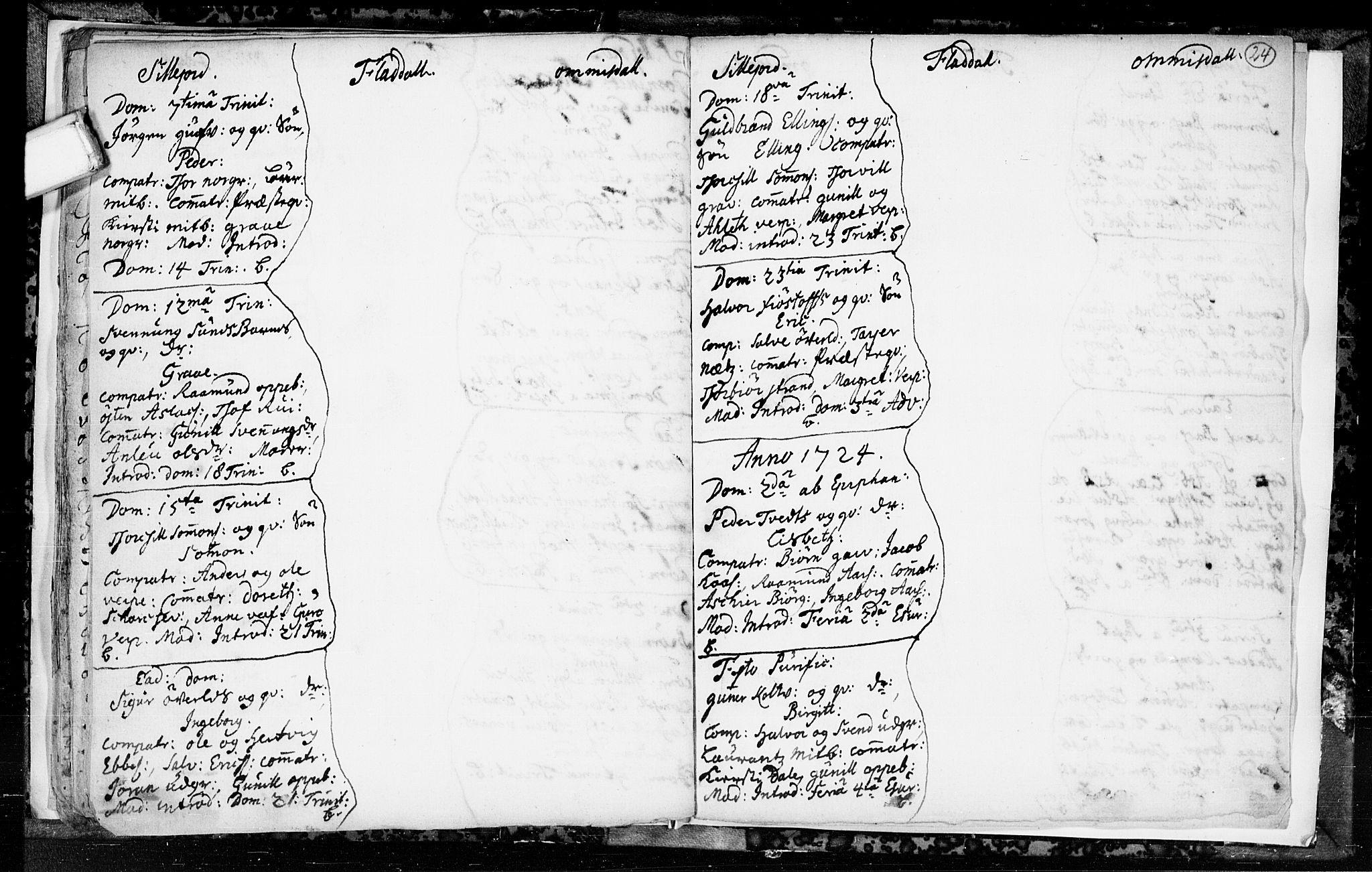 SAKO, Seljord kirkebøker, F/Fa/L0003: Ministerialbok nr. I 3, 1714-1725, s. 24