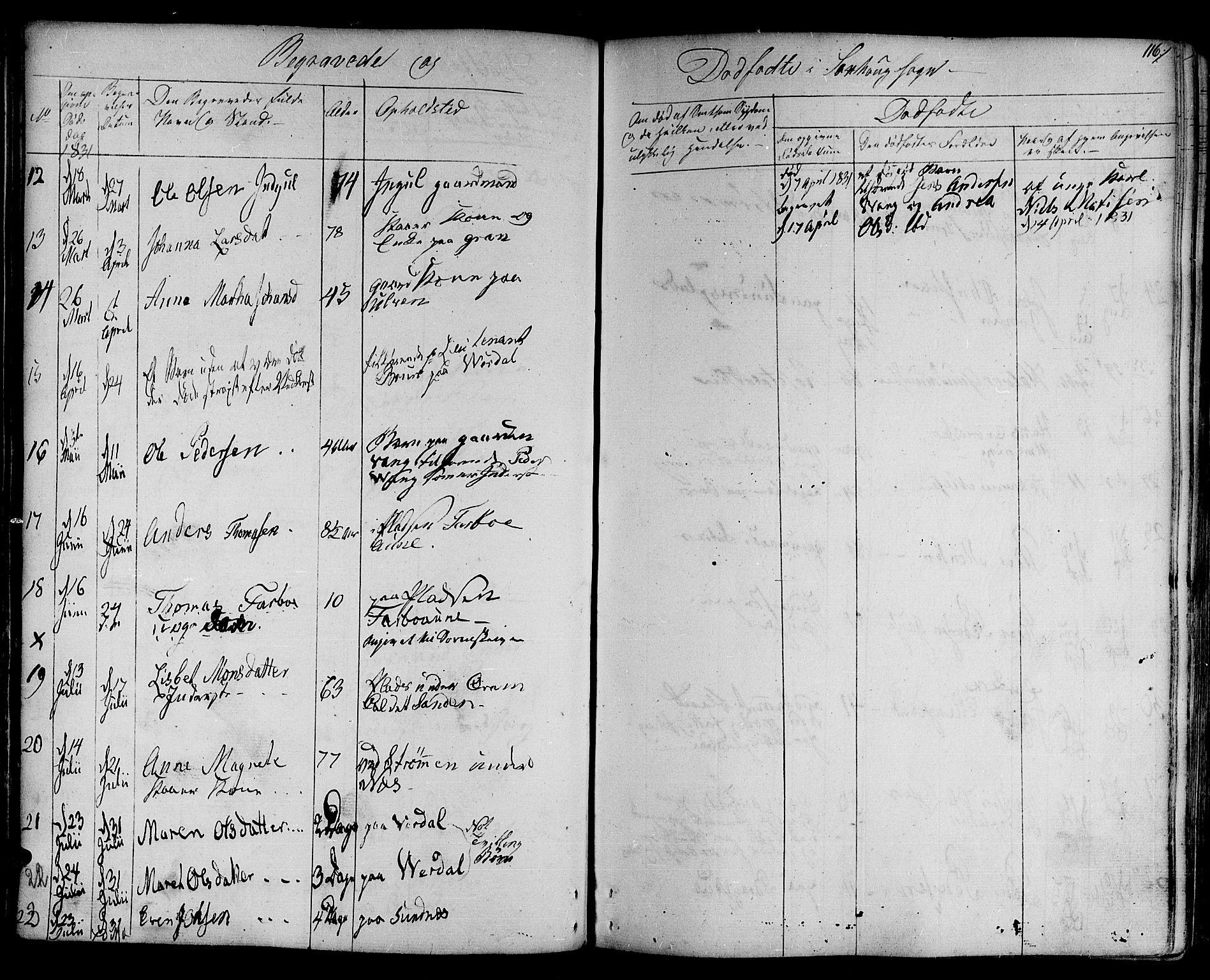 SAT, Ministerialprotokoller, klokkerbøker og fødselsregistre - Nord-Trøndelag, 730/L0277: Ministerialbok nr. 730A06 /1, 1830-1839, s. 116