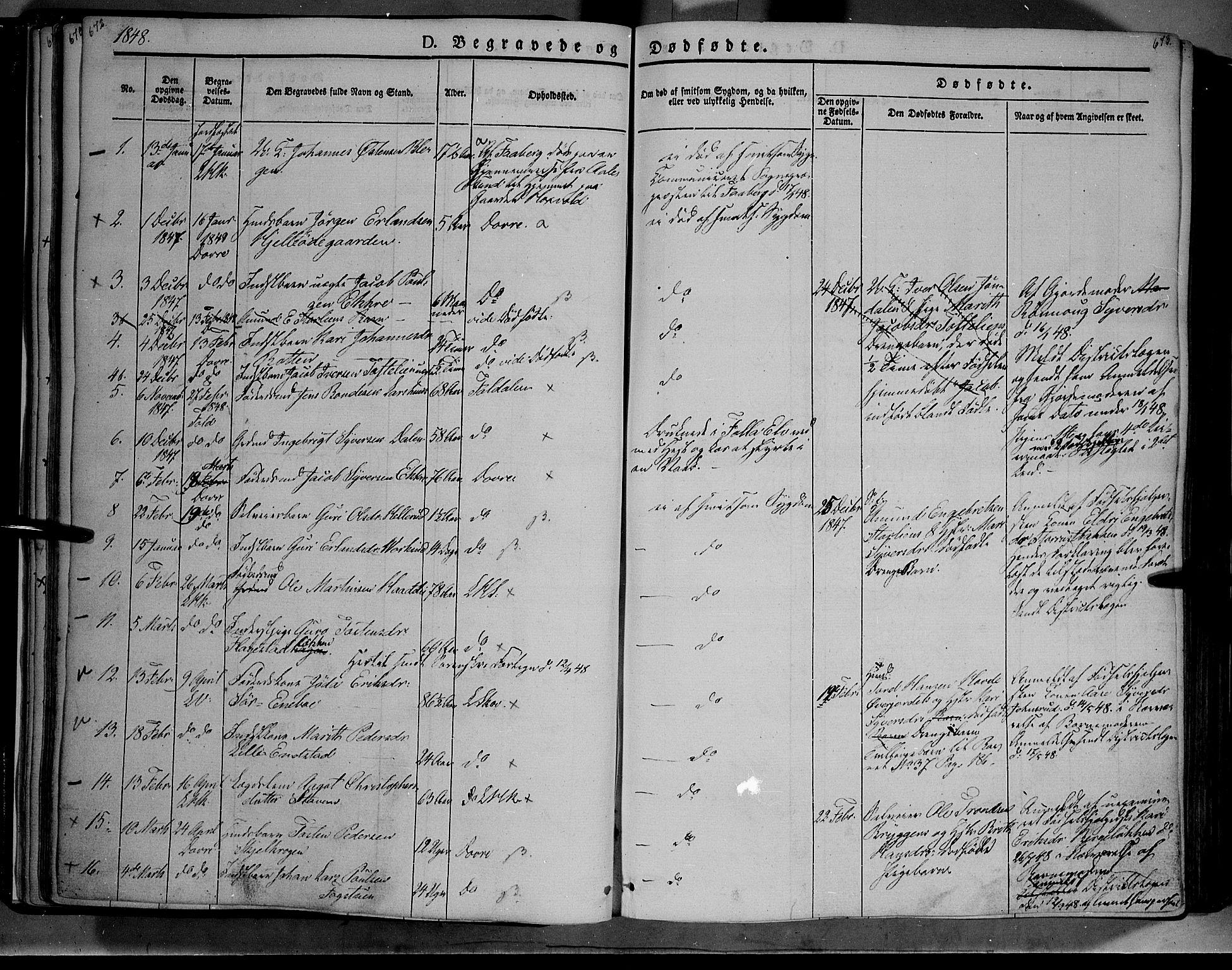 SAH, Lesja prestekontor, Ministerialbok nr. 6B, 1843-1854, s. 672-673
