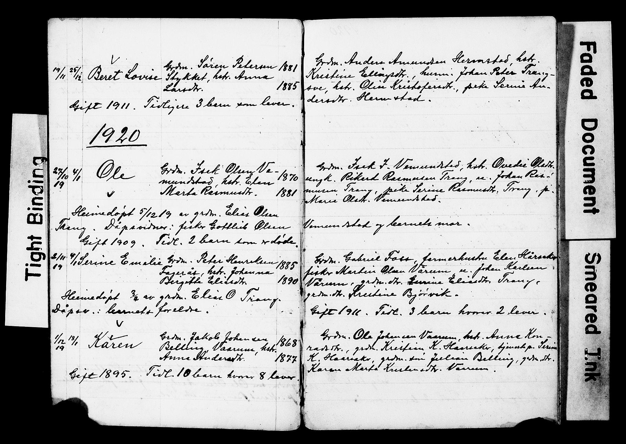 SAT, Ministerialprotokoller, klokkerbøker og fødselsregistre - Sør-Trøndelag, 646/L0631: Klokkerbok nr. 646C04, 1917-1930