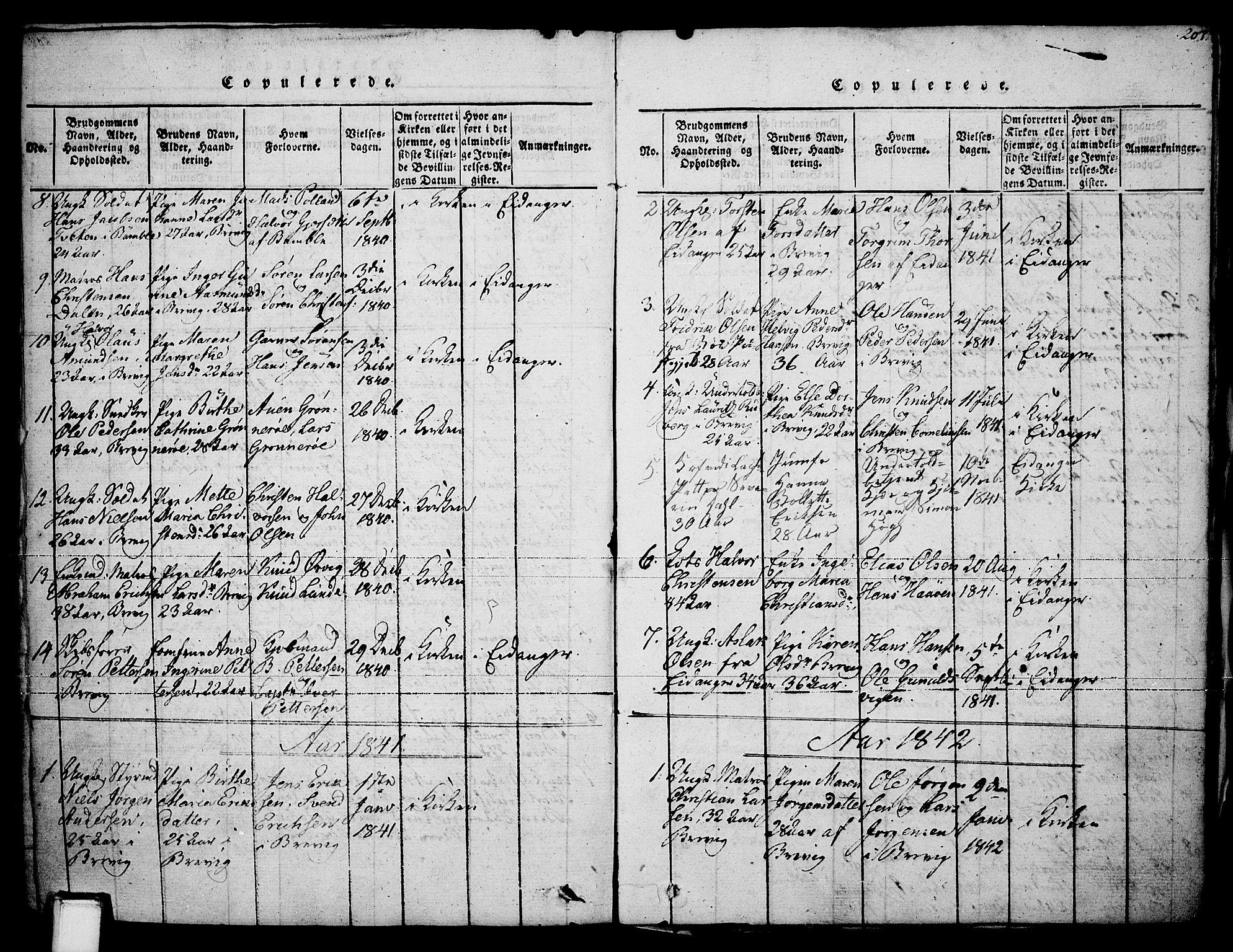 SAKO, Brevik kirkebøker, F/Fa/L0004: Ministerialbok nr. 4, 1814-1846, s. 207