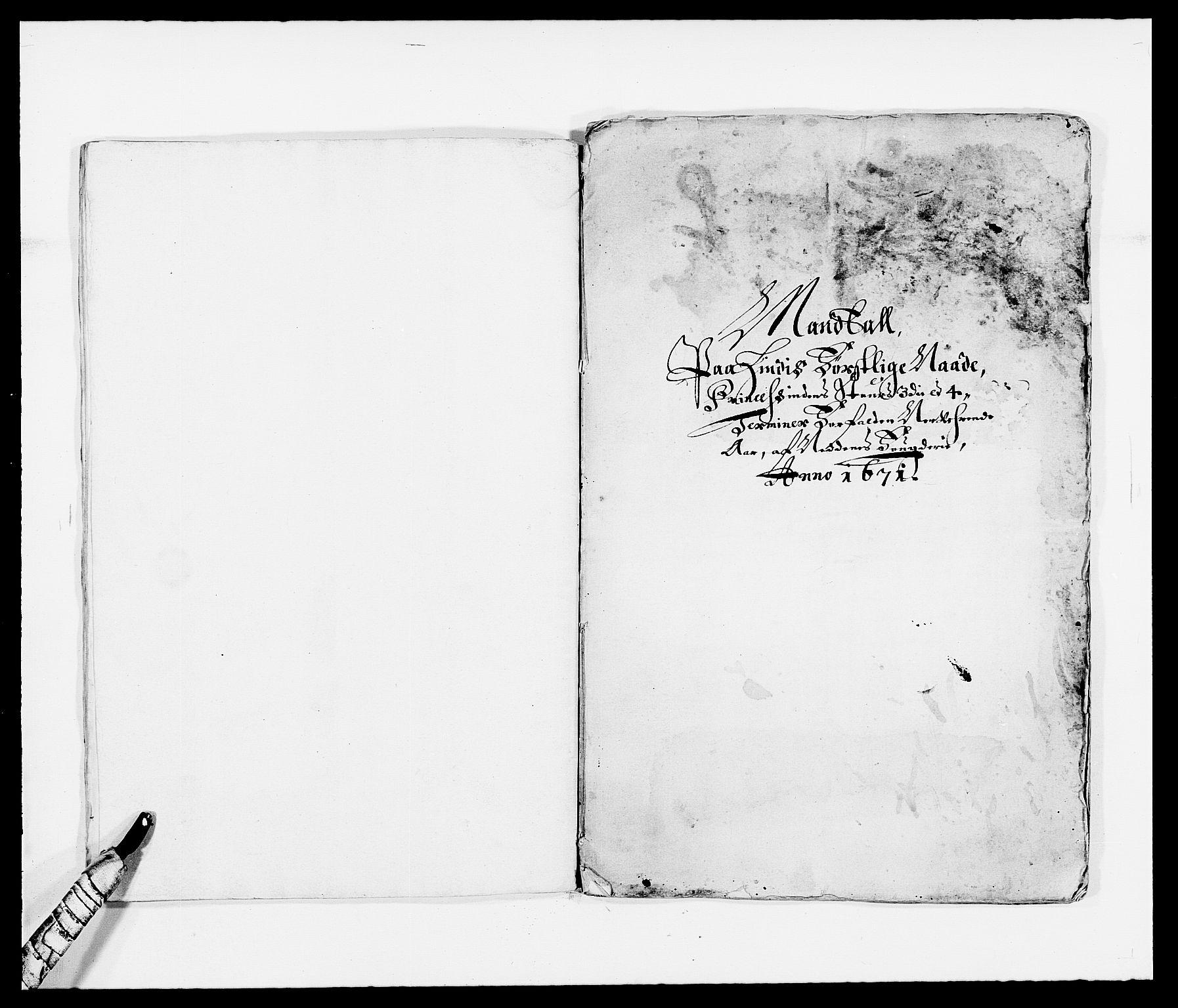 RA, Rentekammeret inntil 1814, Reviderte regnskaper, Fogderegnskap, R39/L2299: Fogderegnskap Nedenes, 1670-1671, s. 259