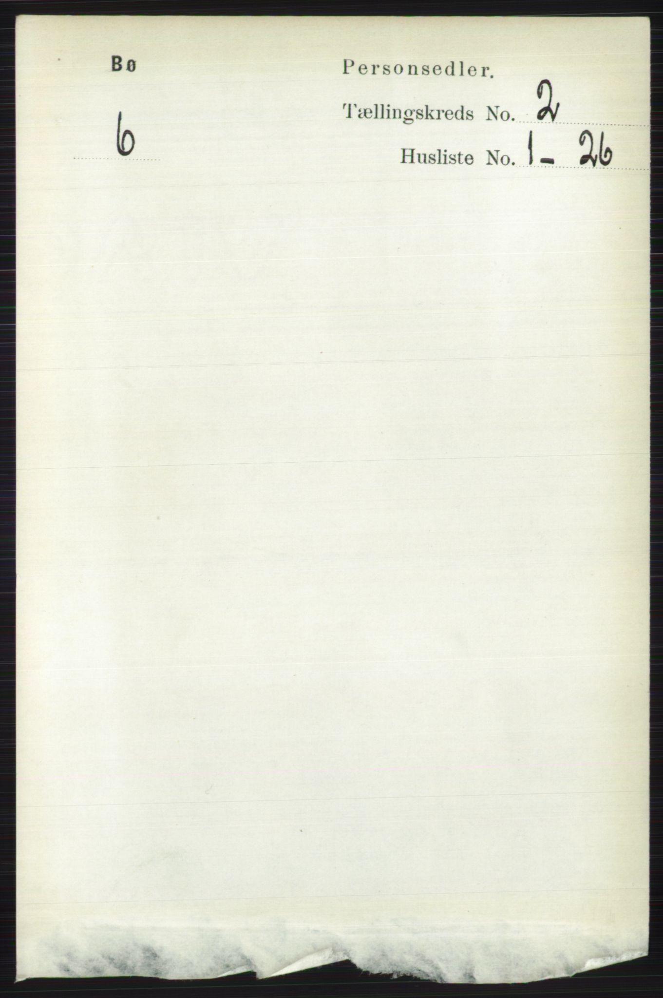RA, Folketelling 1891 for 0821 Bø herred, 1891, s. 679