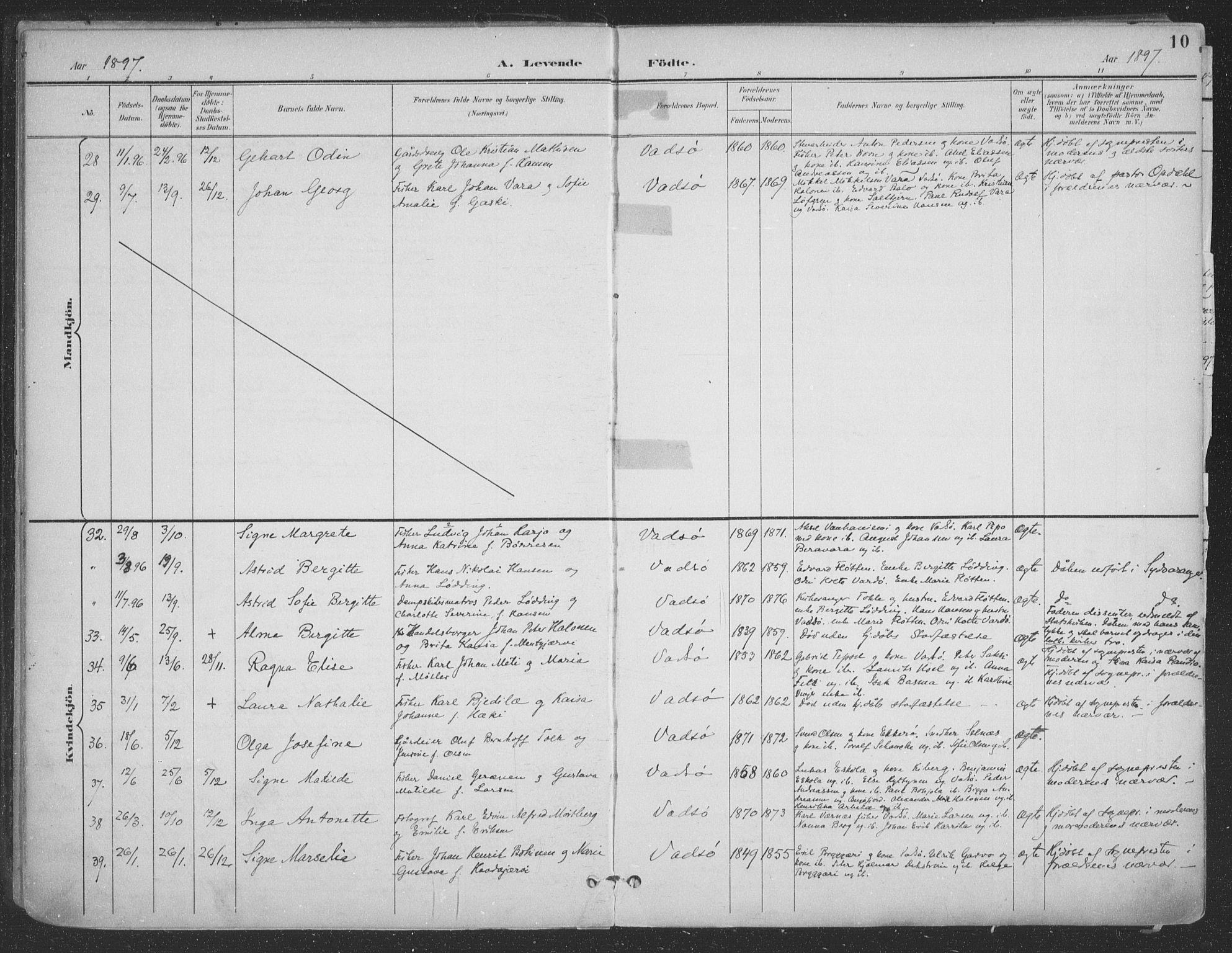 SATØ, Vadsø sokneprestkontor, H/Ha/L0007kirke: Ministerialbok nr. 7, 1896-1916, s. 10