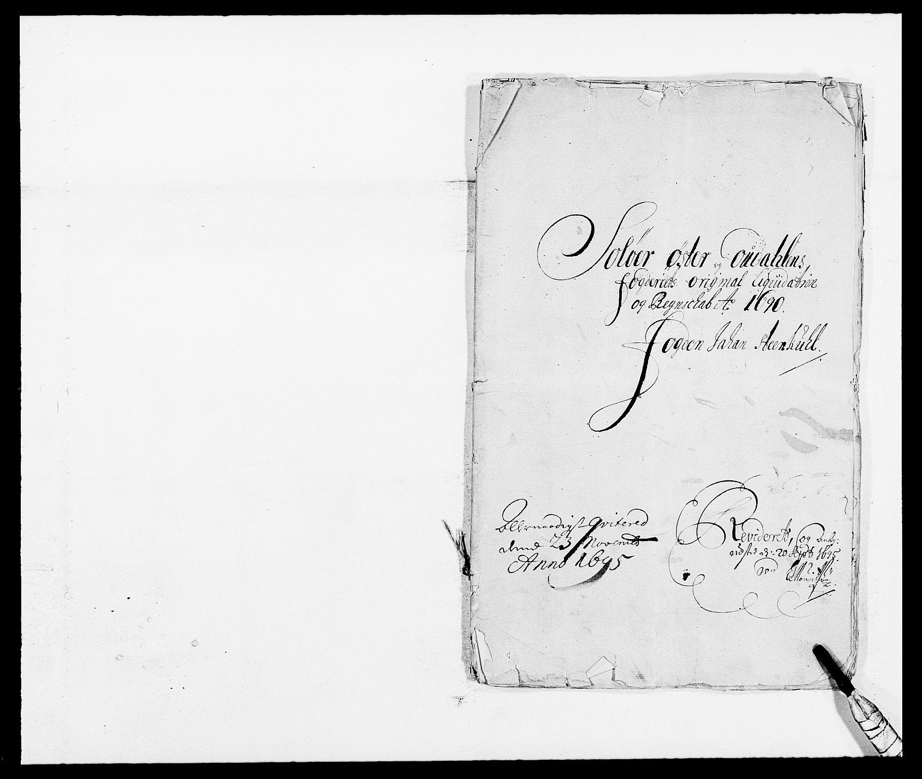 RA, Rentekammeret inntil 1814, Reviderte regnskaper, Fogderegnskap, R13/L0828: Fogderegnskap Solør, Odal og Østerdal, 1690, s. 2