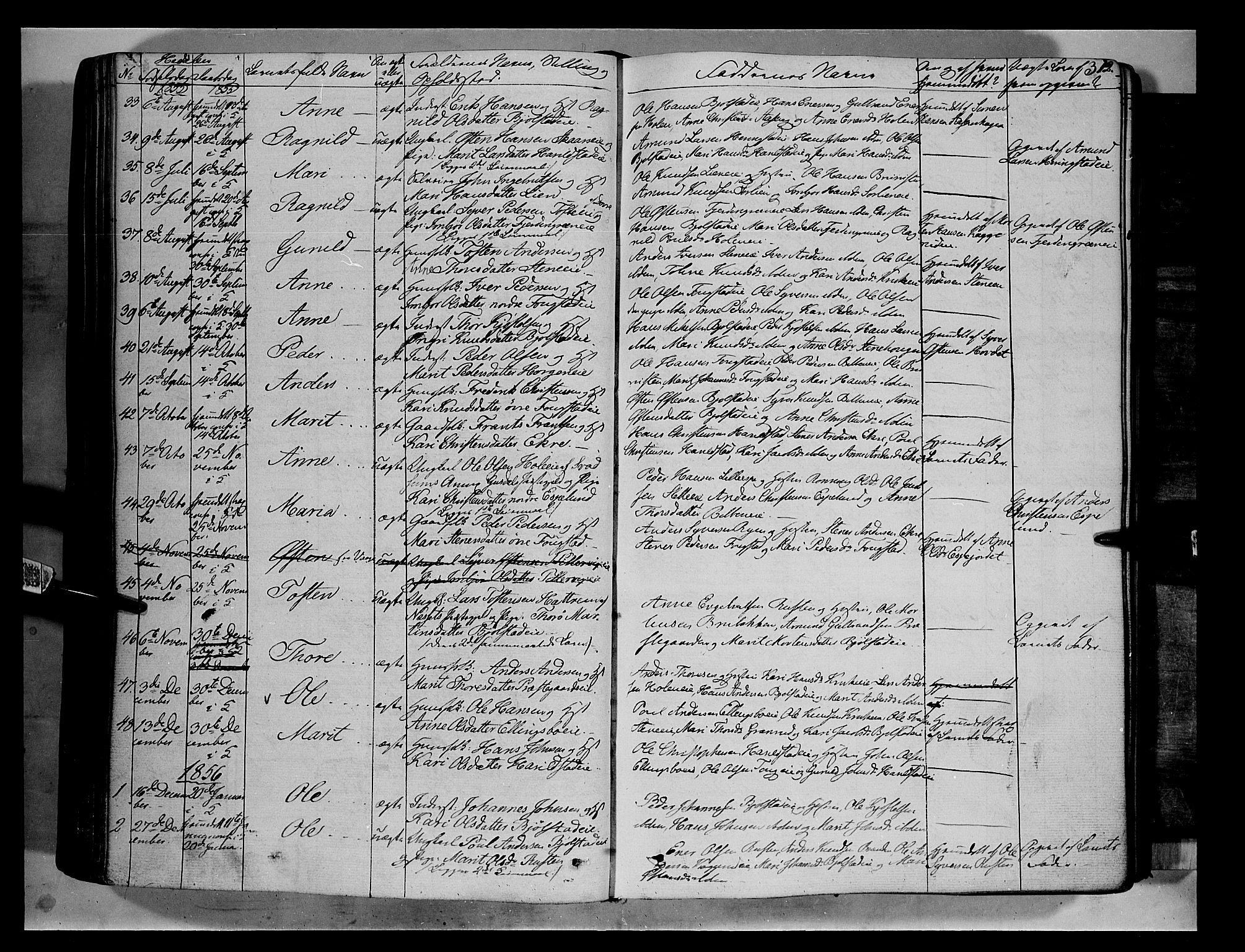 SAH, Vågå prestekontor, Ministerialbok nr. 5 /2, 1842-1856, s. 312