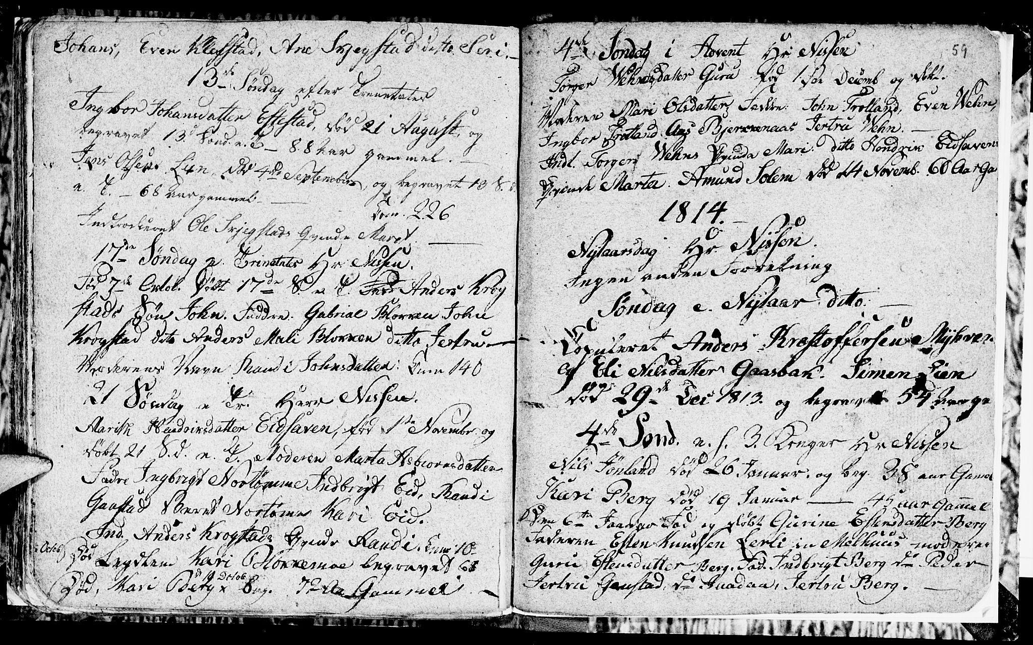 SAT, Ministerialprotokoller, klokkerbøker og fødselsregistre - Sør-Trøndelag, 694/L1129: Klokkerbok nr. 694C01, 1793-1815, s. 59
