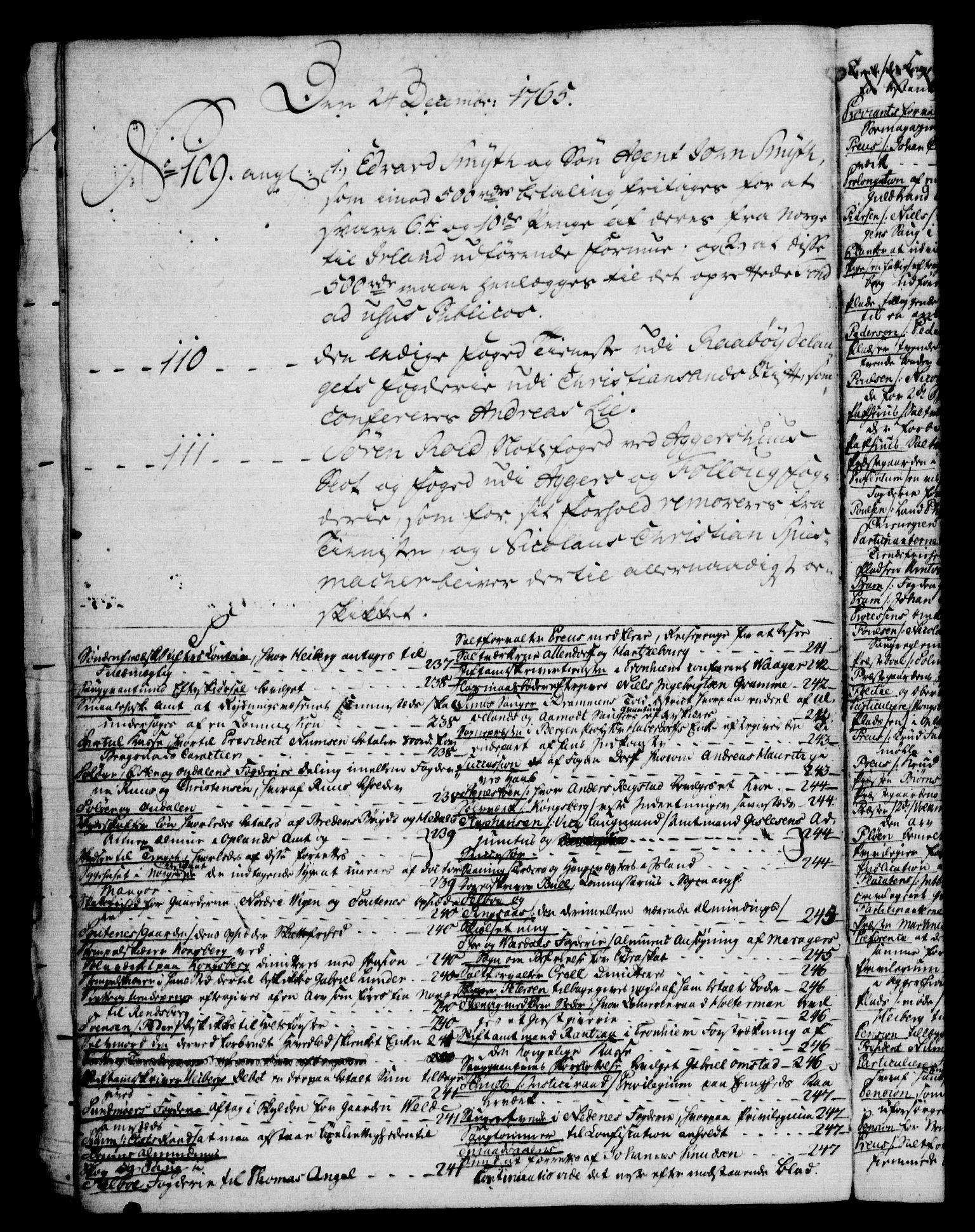 RA, Rentekammeret, Kammerkanselliet, G/Gf/Gfb/L0006: Register til norske relasjons- og resolusjonsprotokoller (merket RK 52.101), 1755-1765, s. 273