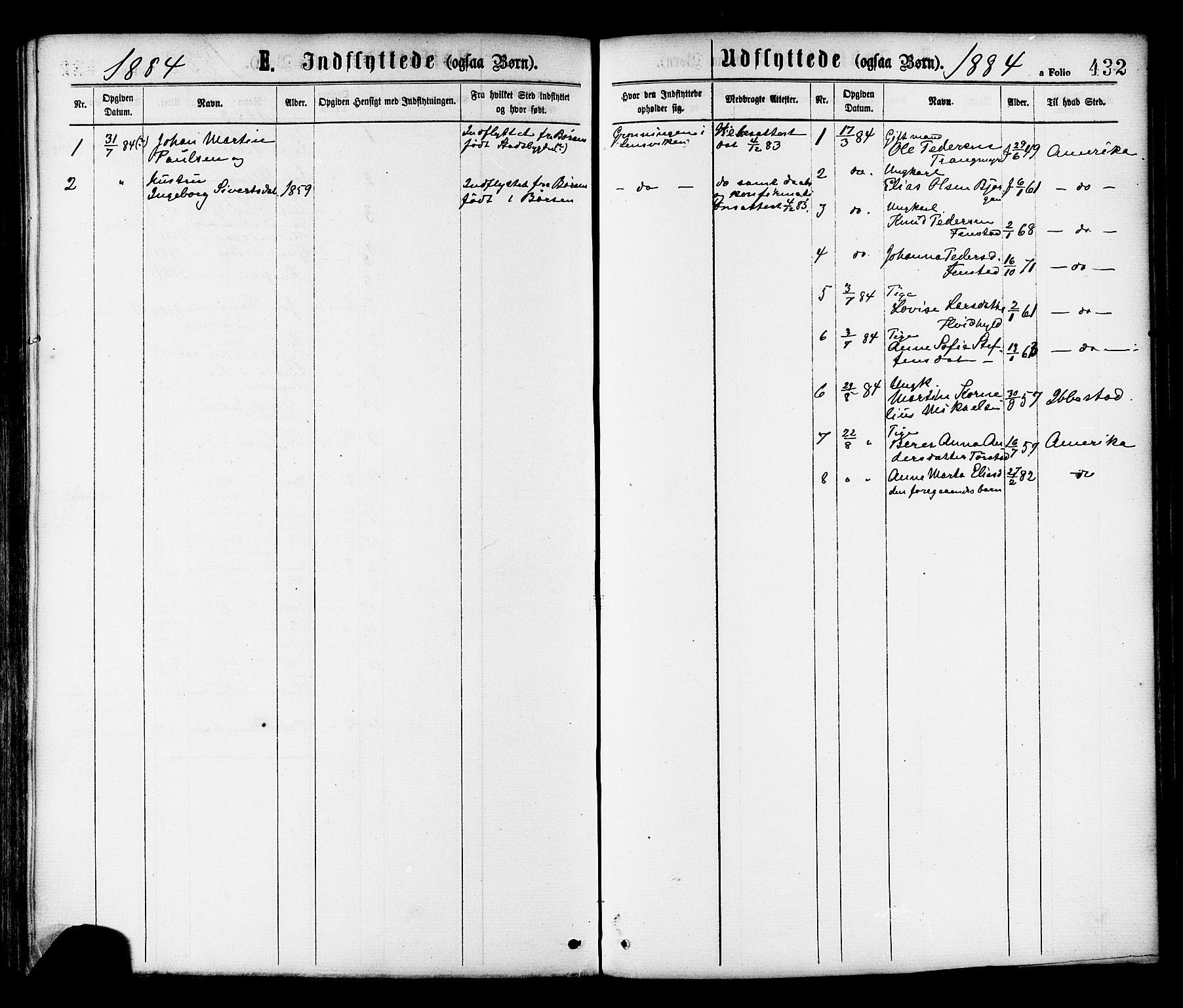 SAT, Ministerialprotokoller, klokkerbøker og fødselsregistre - Sør-Trøndelag, 646/L0613: Ministerialbok nr. 646A11, 1870-1884, s. 432