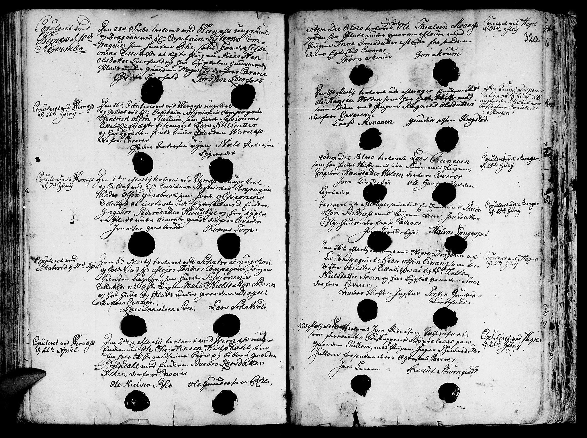 SAT, Ministerialprotokoller, klokkerbøker og fødselsregistre - Nord-Trøndelag, 709/L0057: Ministerialbok nr. 709A05, 1755-1780, s. 320