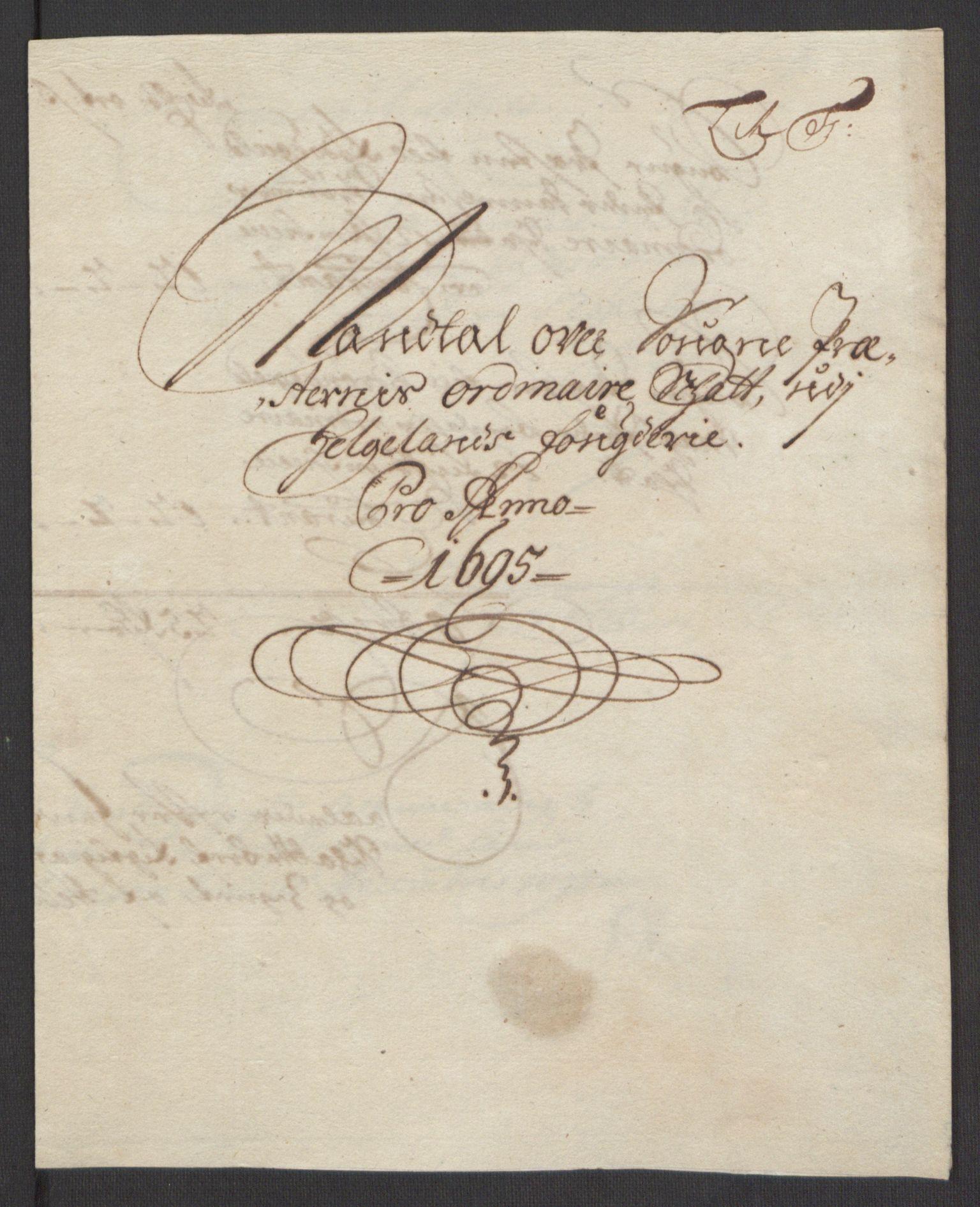 RA, Rentekammeret inntil 1814, Reviderte regnskaper, Fogderegnskap, R65/L4505: Fogderegnskap Helgeland, 1693-1696, s. 381