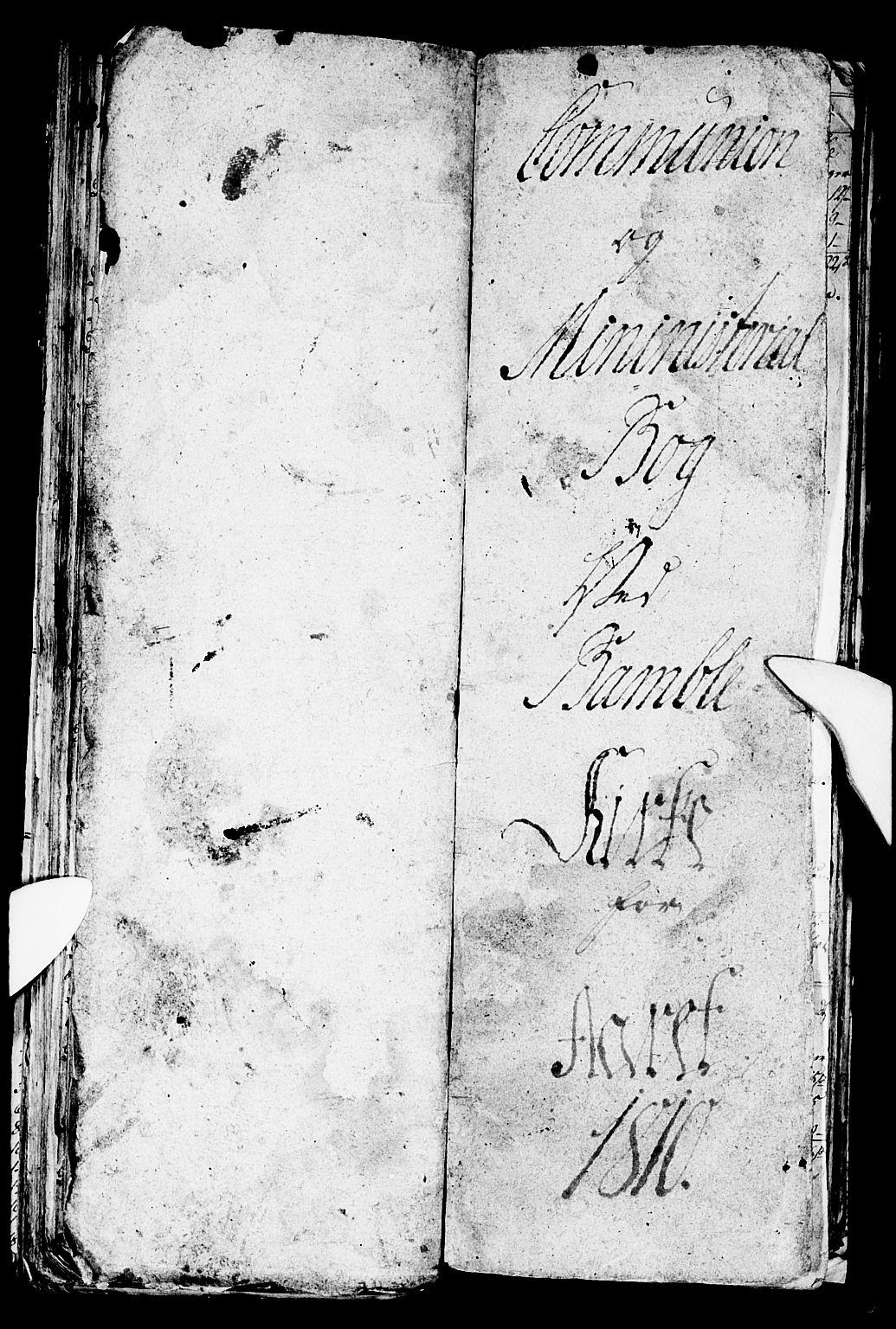 SAKO, Bamble kirkebøker, G/Ga/L0004: Klokkerbok nr. I 4, 1808-1814
