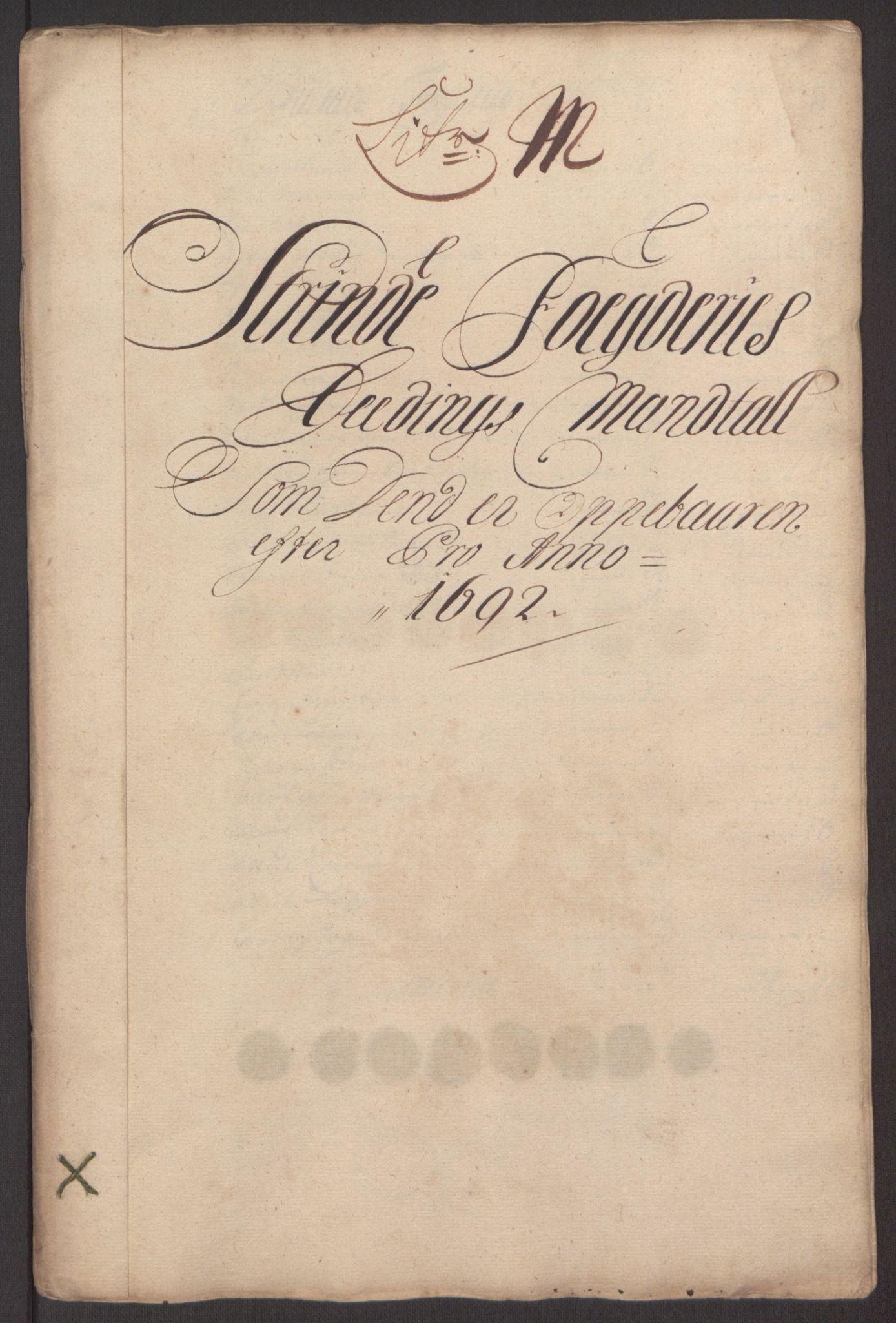 RA, Rentekammeret inntil 1814, Reviderte regnskaper, Fogderegnskap, R61/L4103: Fogderegnskap Strinda og Selbu, 1691-1692, s. 348