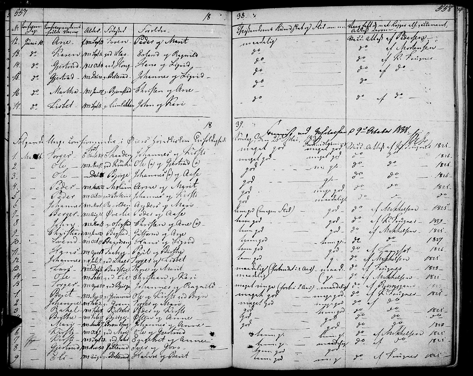 SAH, Øyer prestekontor, Ministerialbok nr. 4, 1824-1841, s. 557-558