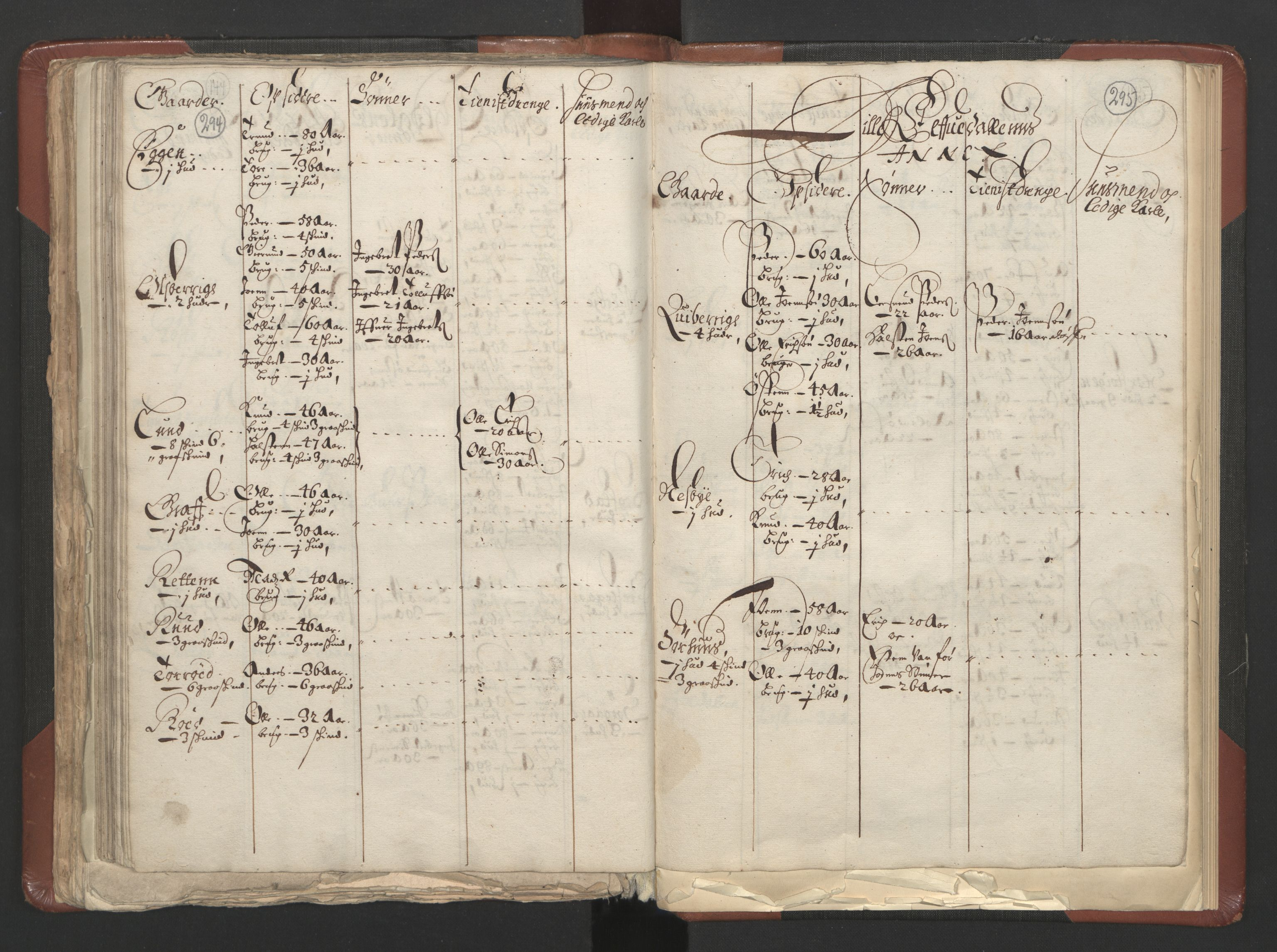 RA, Fogdenes og sorenskrivernes manntall 1664-1666, nr. 3: Hedmark fogderi og Solør, Østerdal og Odal fogderi, 1664, s. 294-295