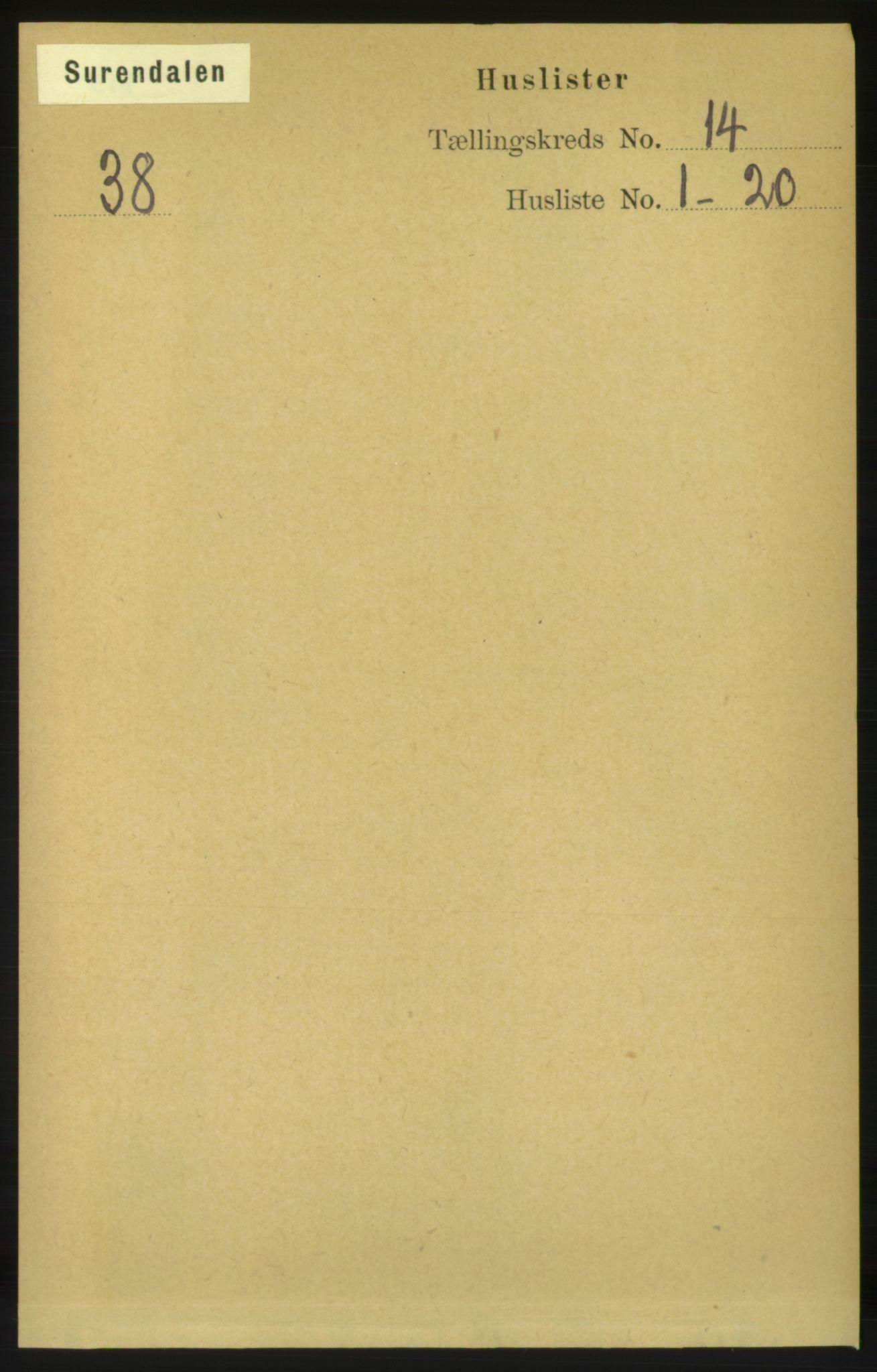 RA, Folketelling 1891 for 1566 Surnadal herred, 1891, s. 3481