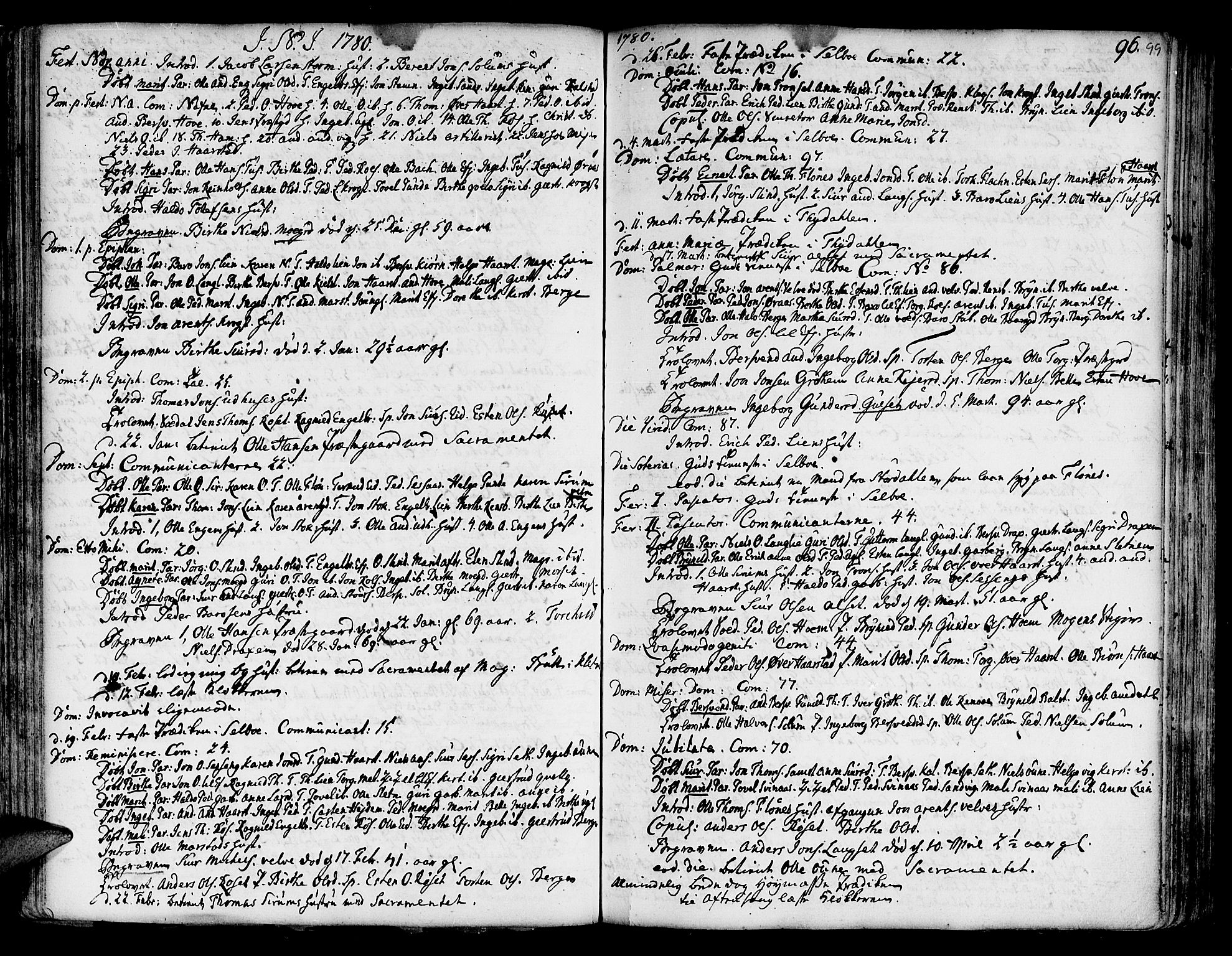 SAT, Ministerialprotokoller, klokkerbøker og fødselsregistre - Sør-Trøndelag, 695/L1138: Ministerialbok nr. 695A02 /1, 1757-1801, s. 99