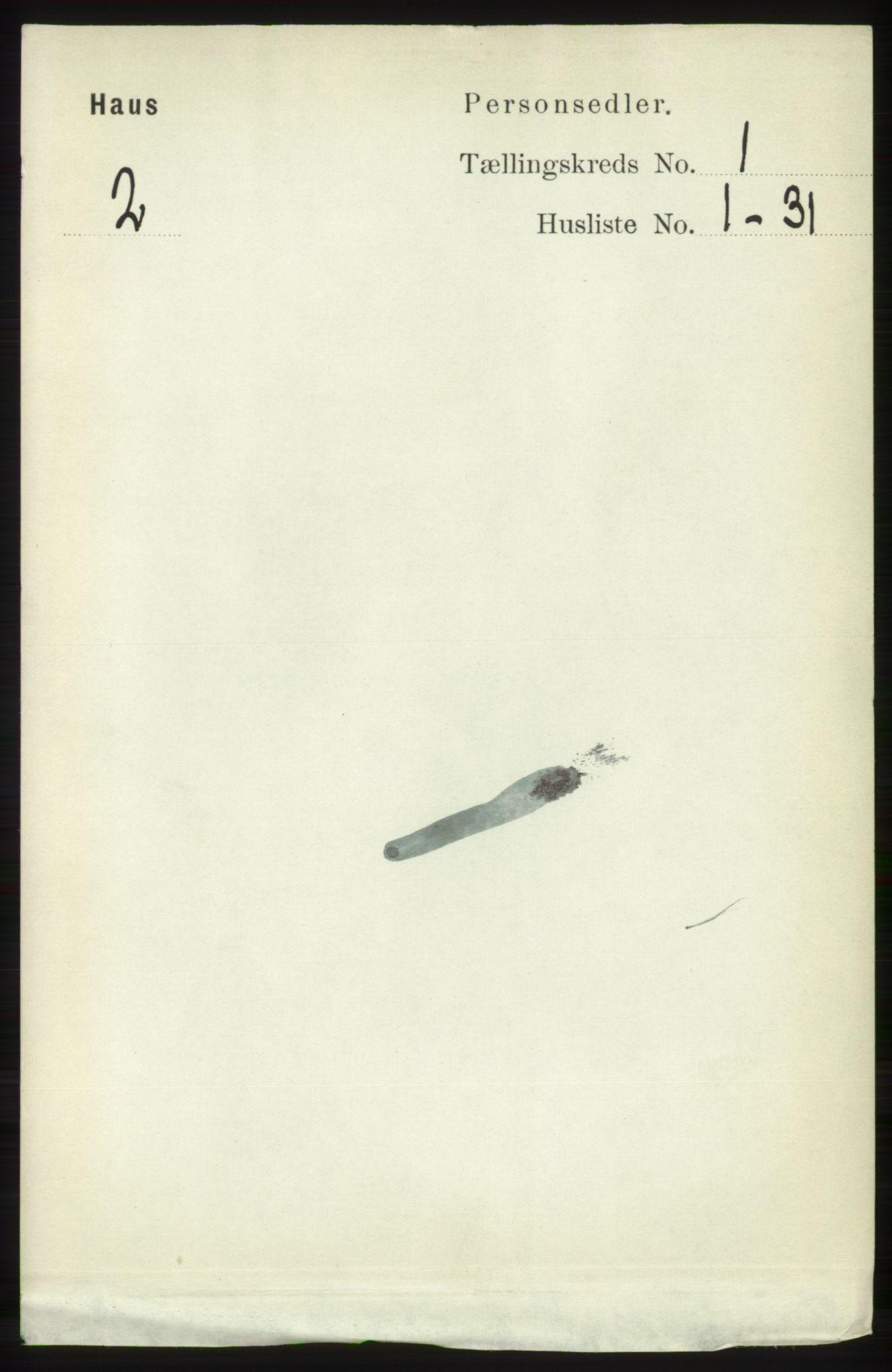RA, Folketelling 1891 for 1250 Haus herred, 1891, s. 98