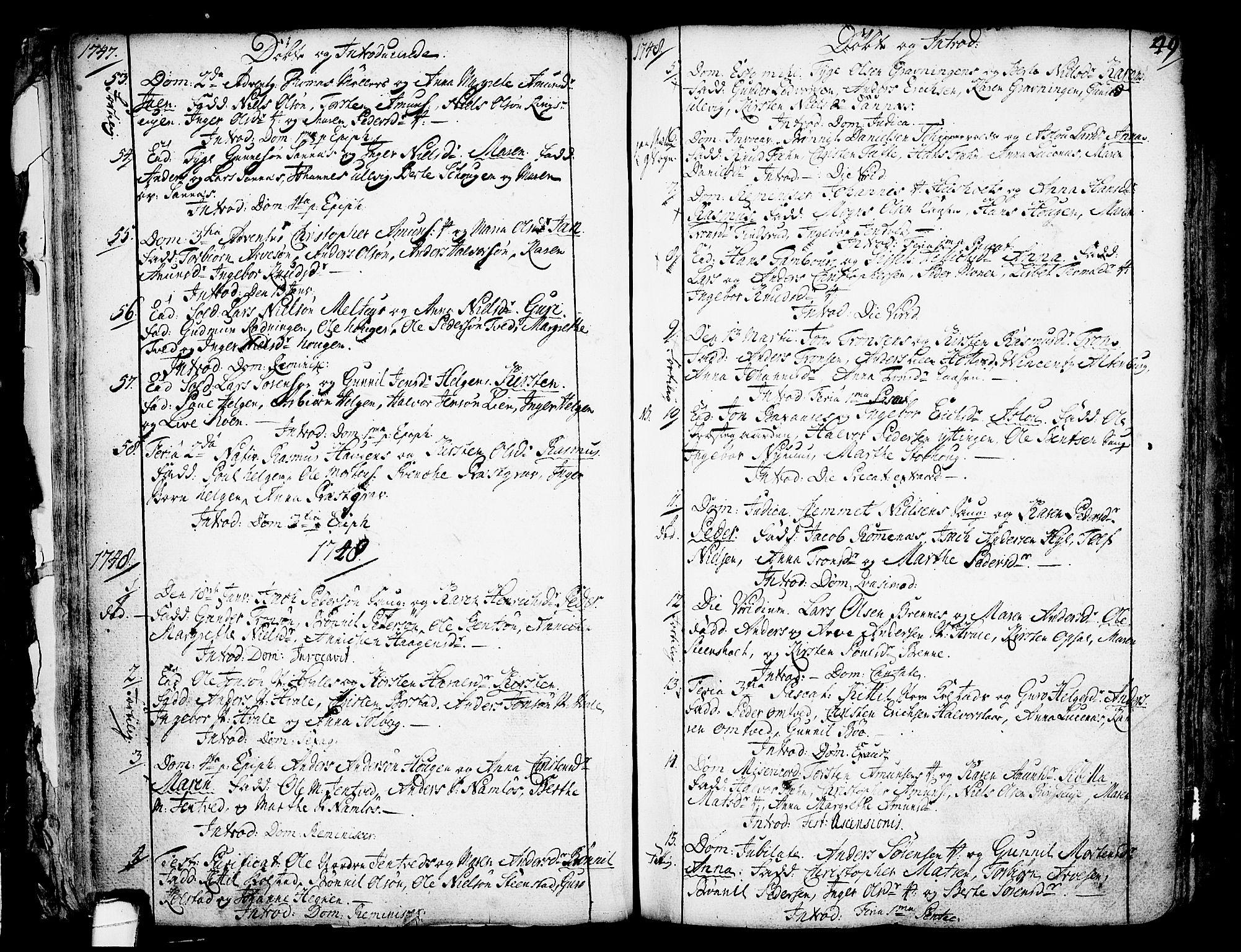 SAKO, Holla kirkebøker, F/Fa/L0001: Ministerialbok nr. 1, 1717-1779, s. 49