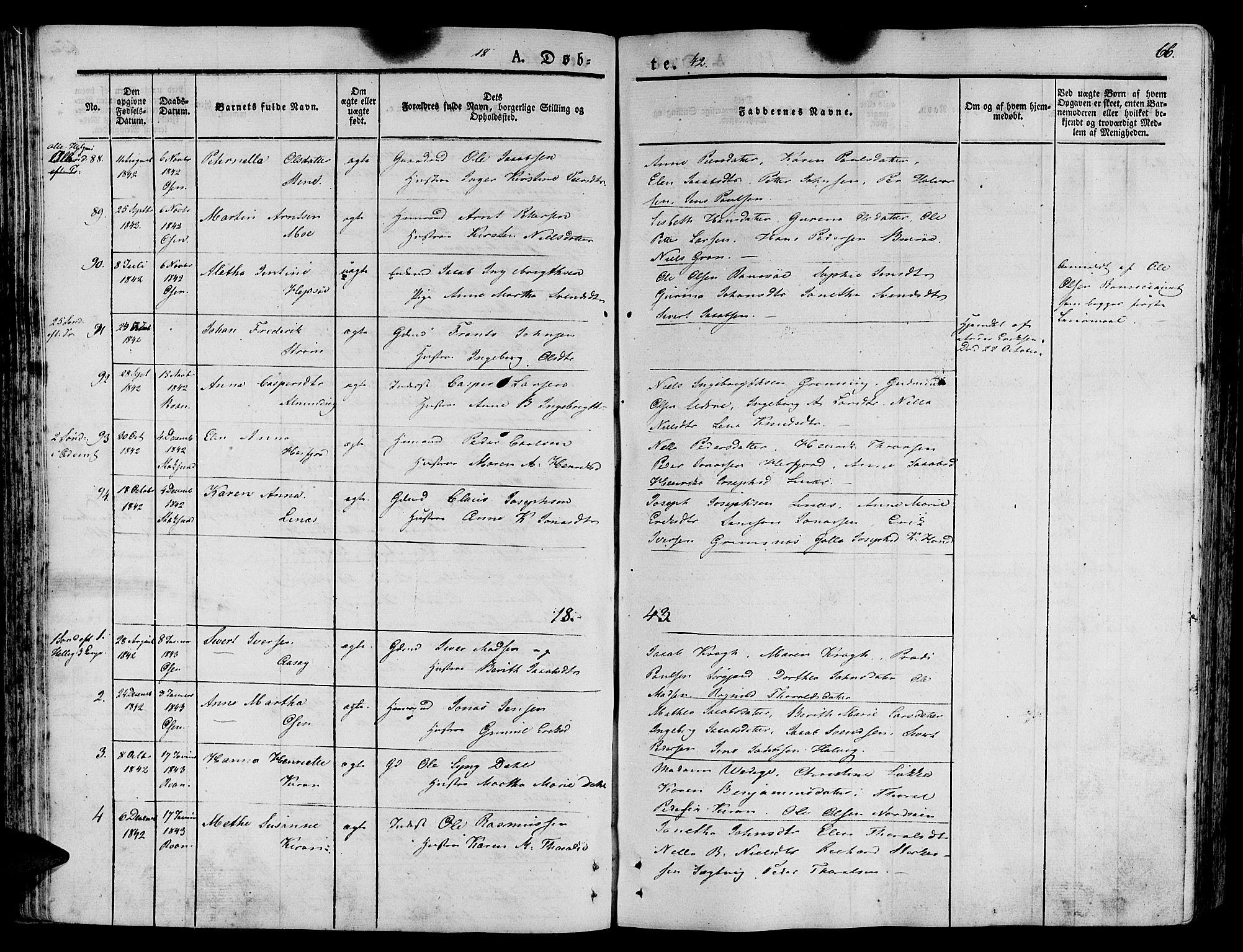 SAT, Ministerialprotokoller, klokkerbøker og fødselsregistre - Sør-Trøndelag, 657/L0703: Ministerialbok nr. 657A04, 1831-1846, s. 66