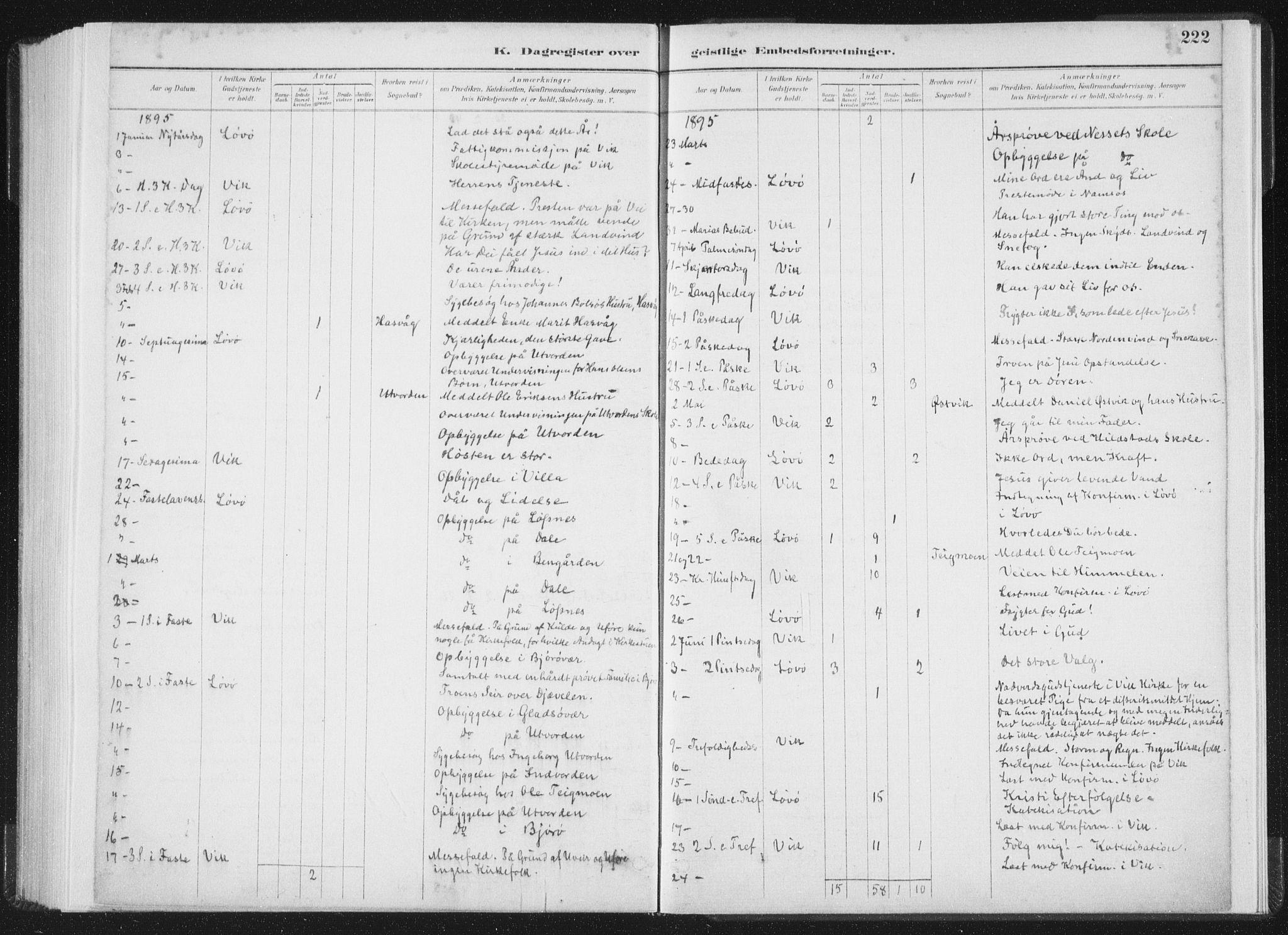 SAT, Ministerialprotokoller, klokkerbøker og fødselsregistre - Nord-Trøndelag, 771/L0597: Ministerialbok nr. 771A04, 1885-1910, s. 222