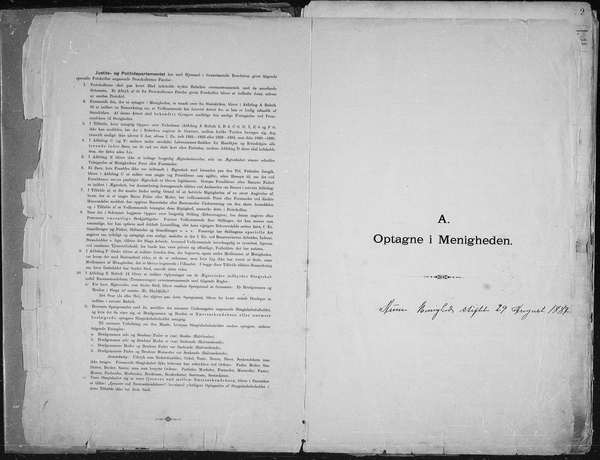 SATØ, Aune baptistmenighet, F/L0006DP: Dissenterprotokoll nr. 6, 1887-1939