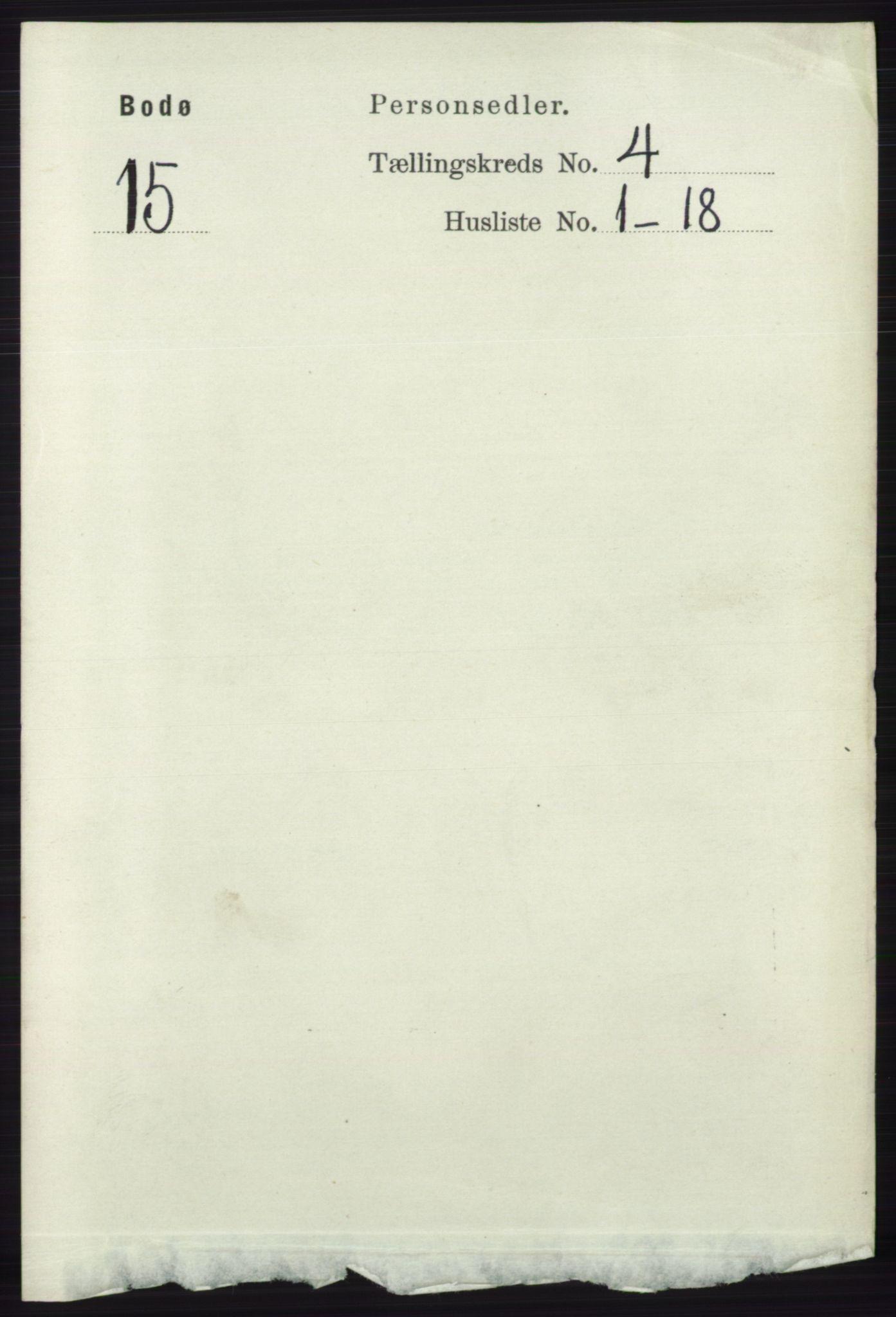 RA, Folketelling 1891 for 1804 Bodø kjøpstad, 1891, s. 3019