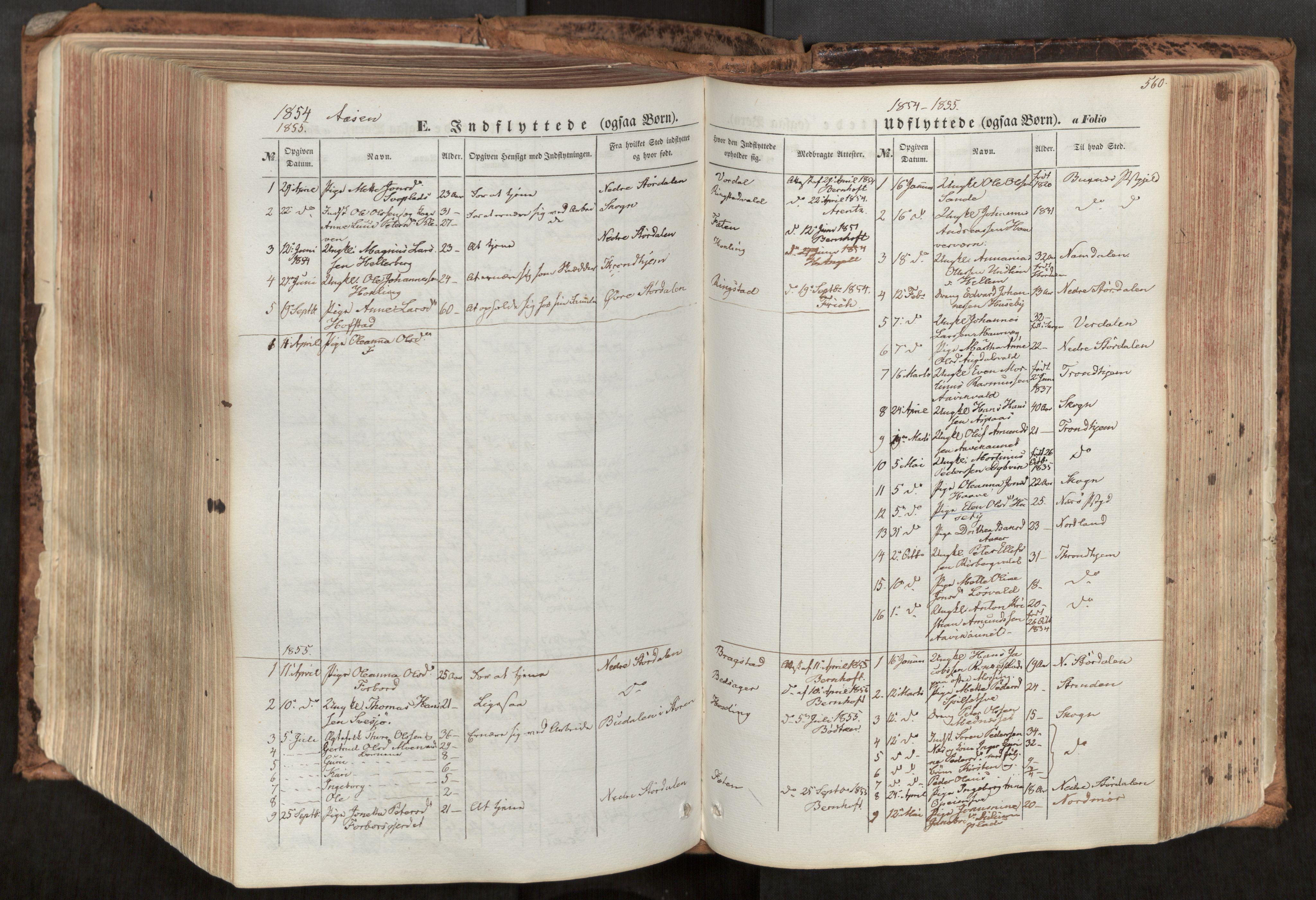 SAT, Ministerialprotokoller, klokkerbøker og fødselsregistre - Nord-Trøndelag, 713/L0116: Ministerialbok nr. 713A07, 1850-1877, s. 560