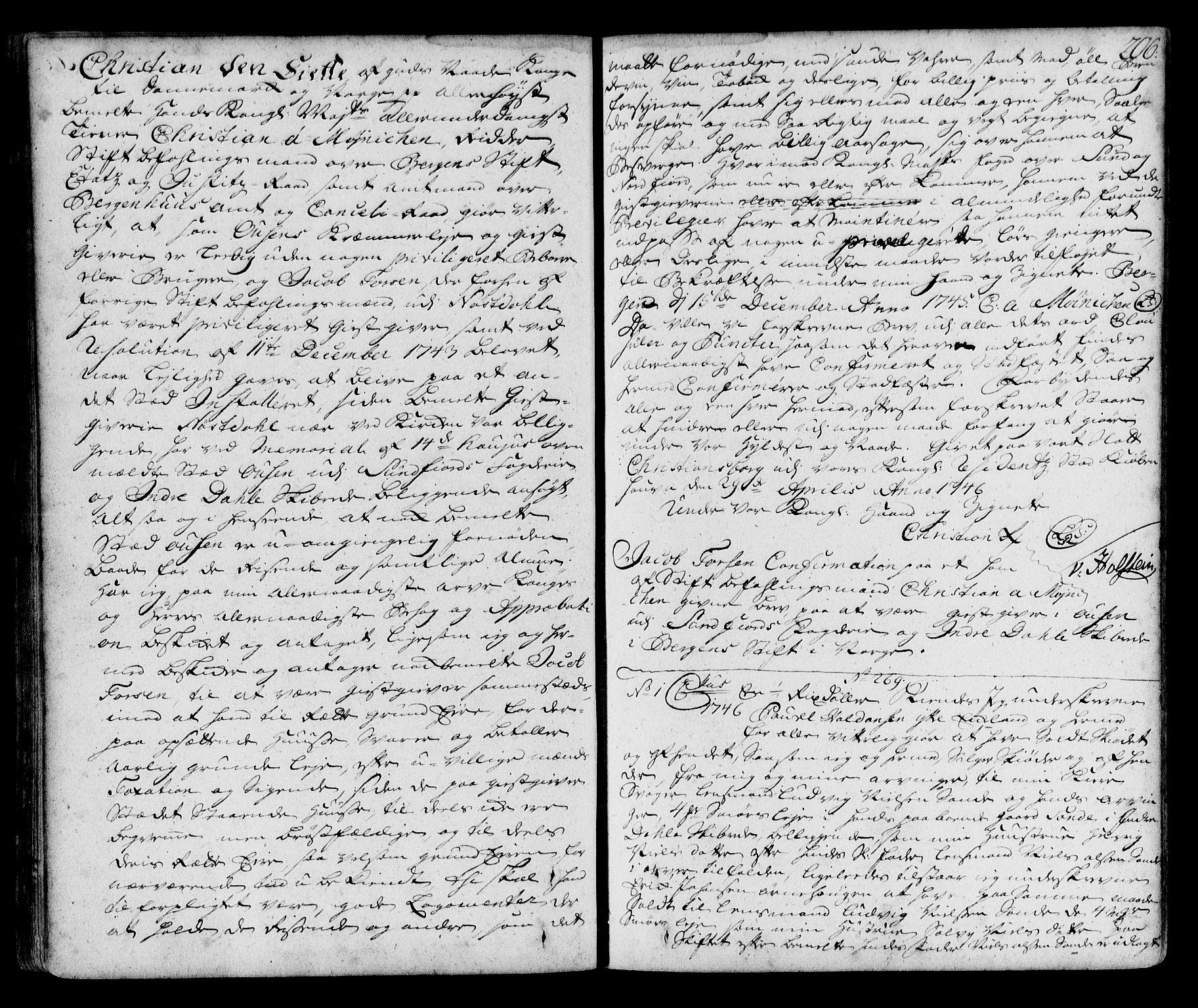 SAB, Sunnfjord tingrett, G/Gb/Gba/L0002a: Pantebok nr. II.B.2a, 1732-1762, s. 206