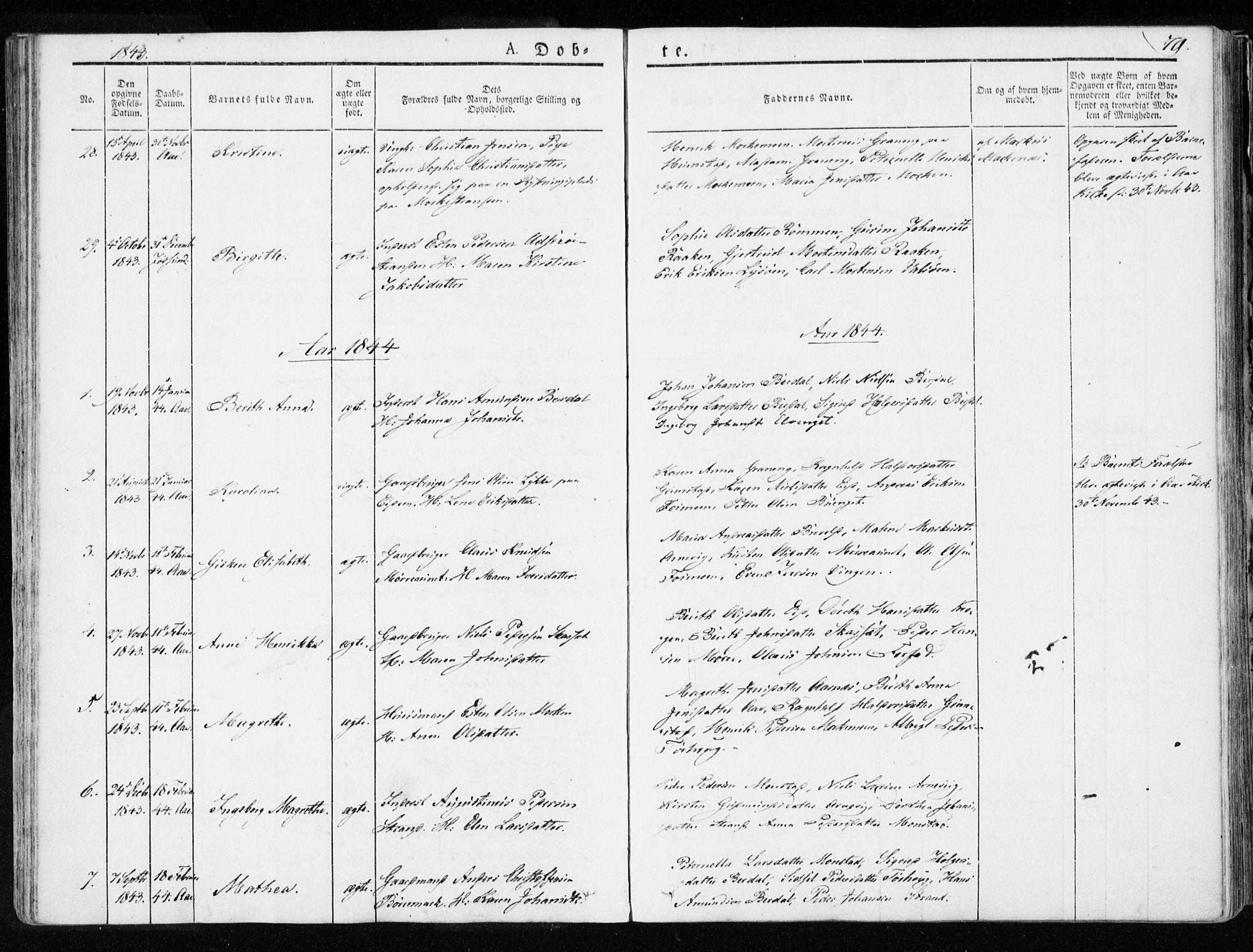 SAT, Ministerialprotokoller, klokkerbøker og fødselsregistre - Sør-Trøndelag, 655/L0676: Ministerialbok nr. 655A05, 1830-1847, s. 79