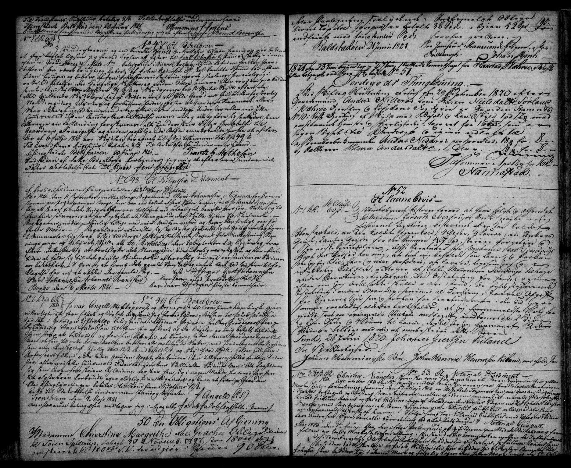 SAT, Vesterålen sorenskriveri, 2/2Ca/L0006: Pantebok nr. F, 1812-1823, s. 195