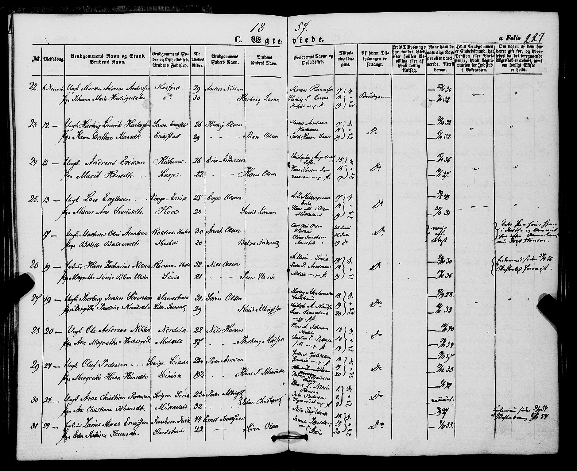 SATØ, Trondenes sokneprestkontor, H/Ha/L0011kirke: Ministerialbok nr. 11, 1853-1862, s. 227