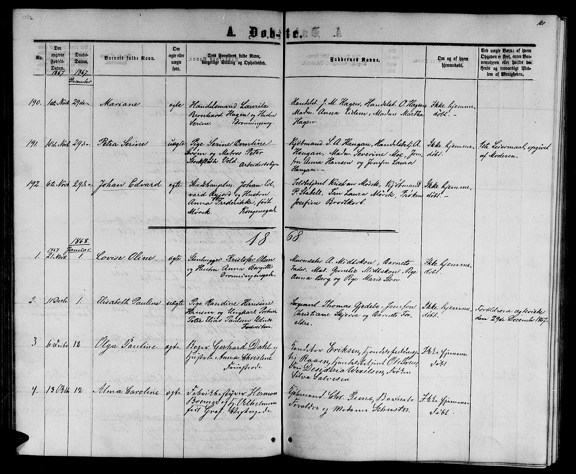 SAT, Ministerialprotokoller, klokkerbøker og fødselsregistre - Sør-Trøndelag, 601/L0087: Klokkerbok nr. 601C05, 1864-1881, s. 101