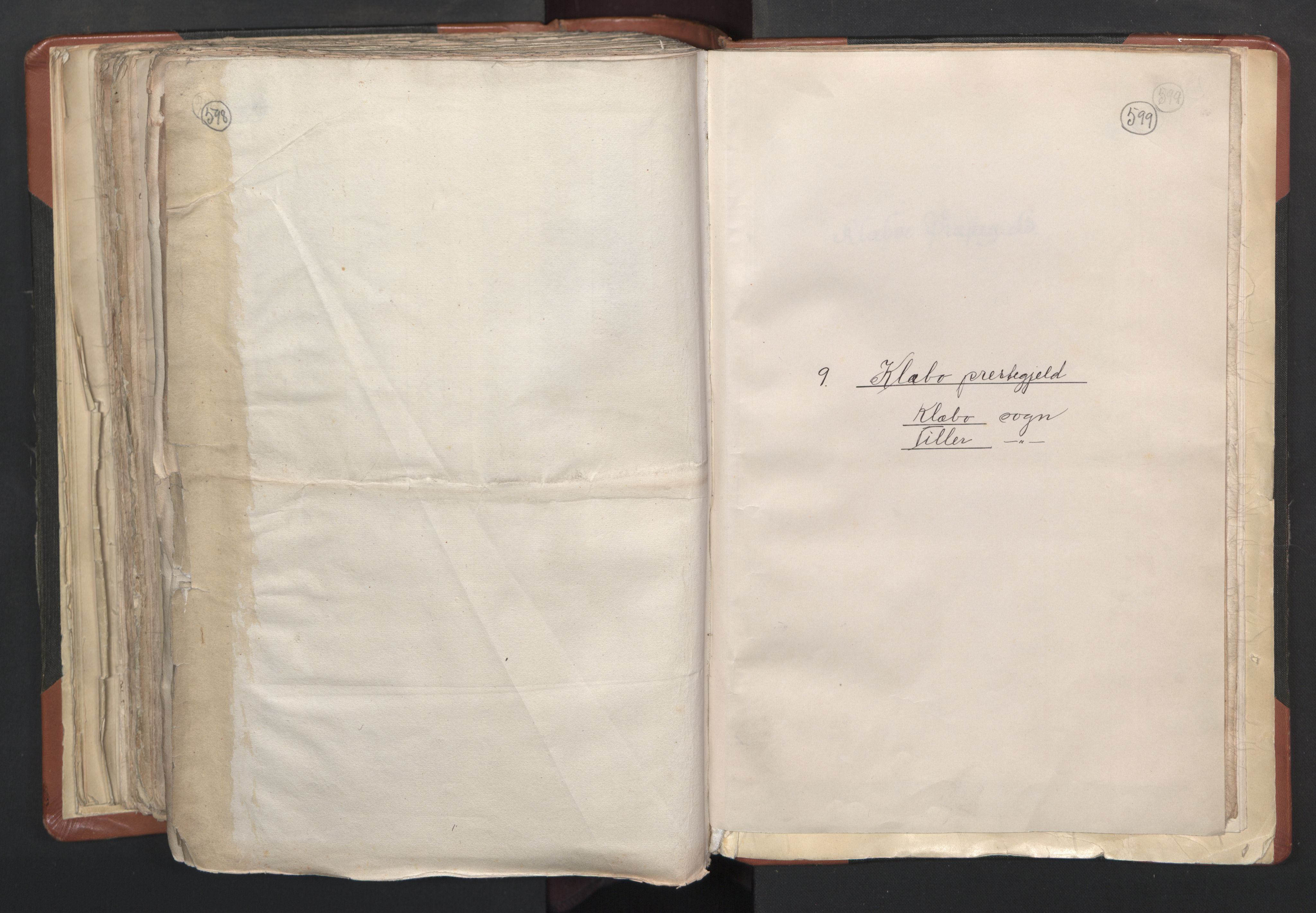 RA, Sogneprestenes manntall 1664-1666, nr. 31: Dalane prosti, 1664-1666, s. 598-599