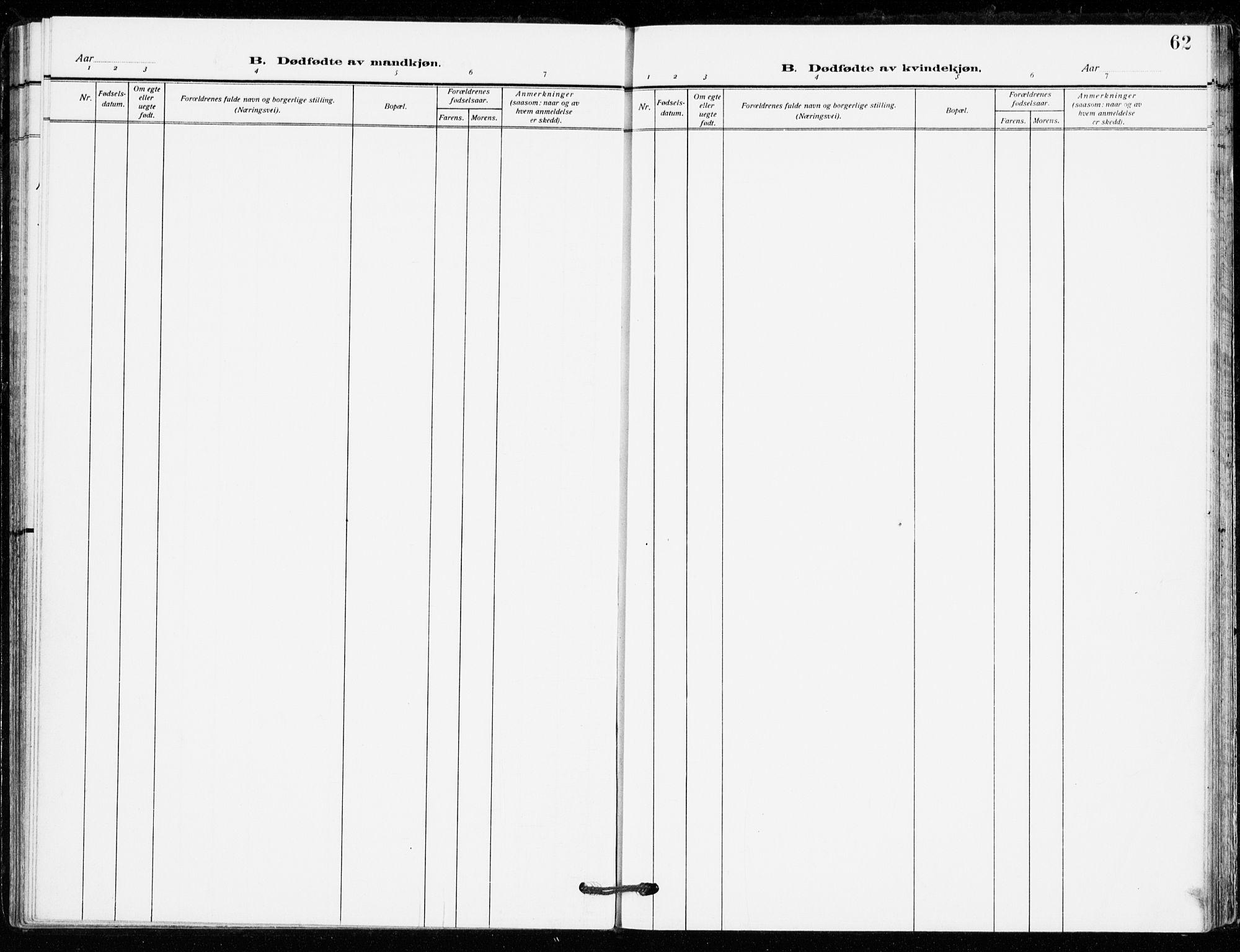 SAKO, Bø kirkebøker, F/Fa/L0013: Ministerialbok nr. 13, 1909-1921, s. 62