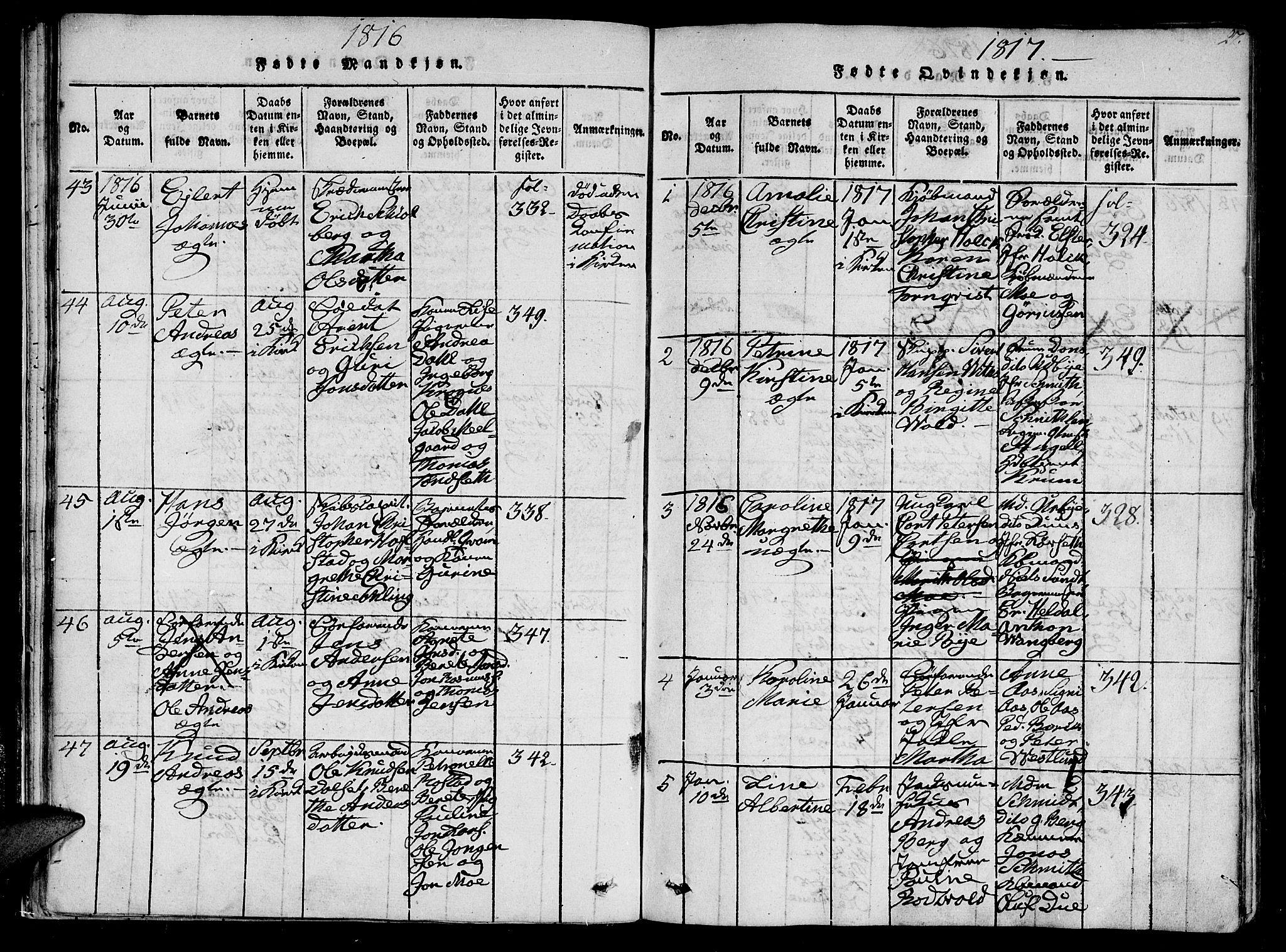 SAT, Ministerialprotokoller, klokkerbøker og fødselsregistre - Sør-Trøndelag, 602/L0107: Ministerialbok nr. 602A05, 1815-1821, s. 27