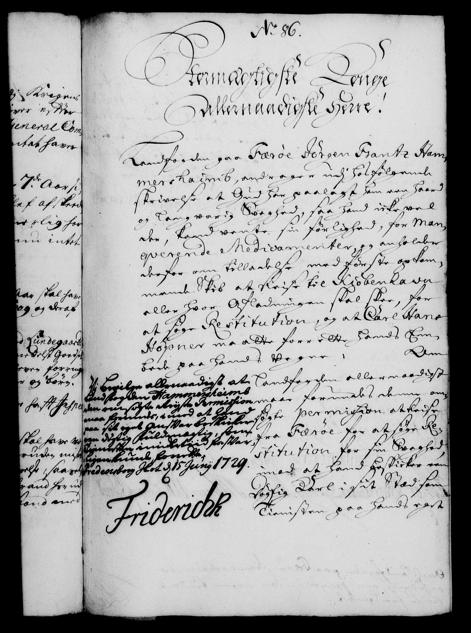 RA, Rentekammeret, Kammerkanselliet, G/Gf/Gfa/L0012: Norsk relasjons- og resolusjonsprotokoll (merket RK 52.12), 1729, s. 454