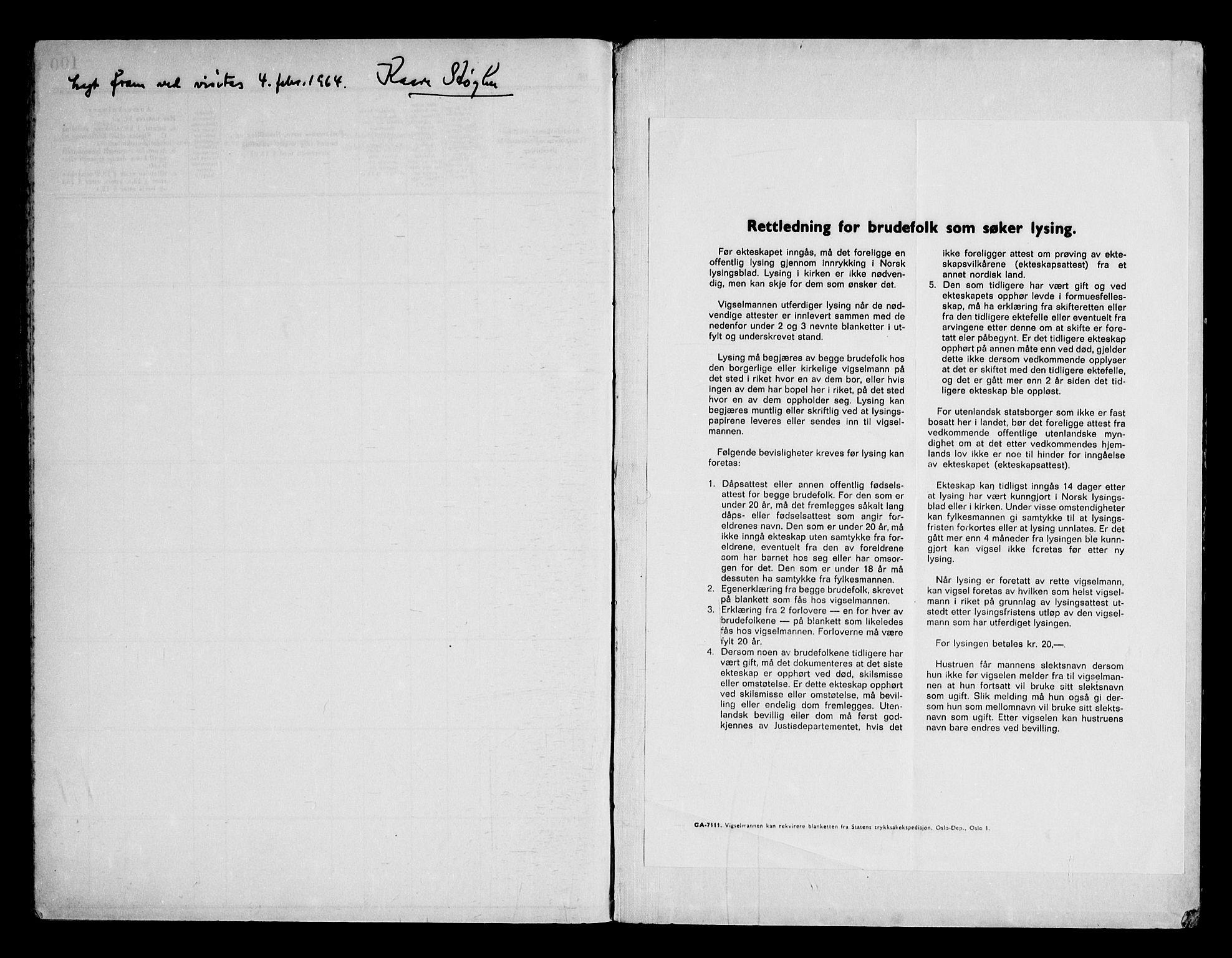 SAKO, Notodden kirkebøker, H/Ha/L0003: Lysningsprotokoll nr. 3, 1959-1969
