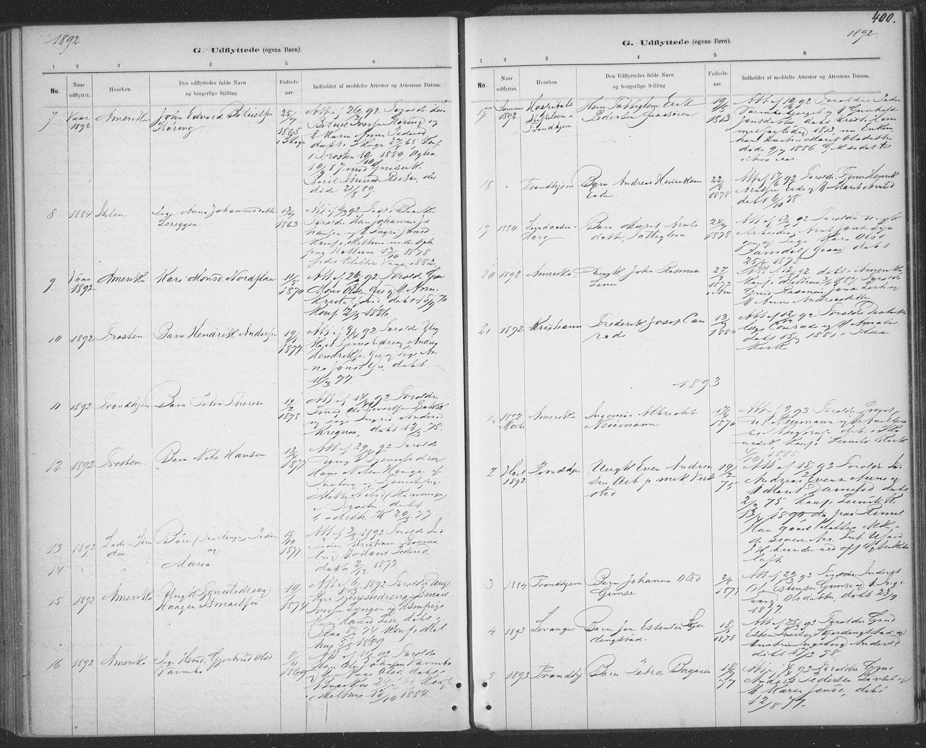 SAT, Ministerialprotokoller, klokkerbøker og fødselsregistre - Sør-Trøndelag, 691/L1085: Ministerialbok nr. 691A17, 1887-1908, s. 400