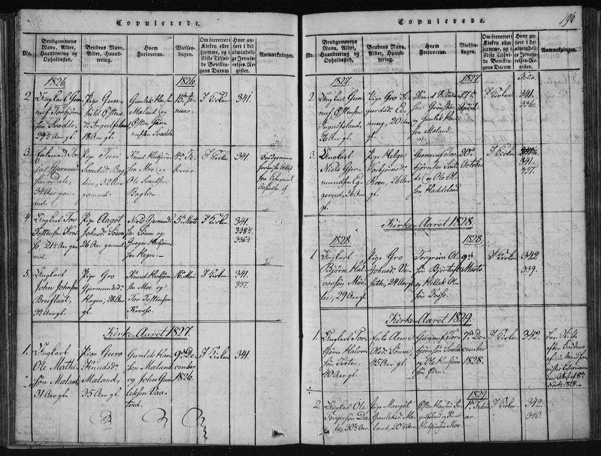 SAKO, Tinn kirkebøker, F/Fc/L0001: Ministerialbok nr. III 1, 1815-1843, s. 196