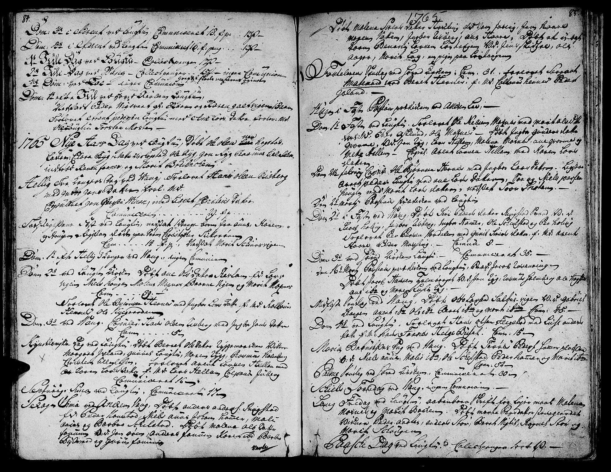 SAT, Ministerialprotokoller, klokkerbøker og fødselsregistre - Nord-Trøndelag, 713/L0109: Ministerialbok nr. 713A01, 1750-1778, s. 84-85