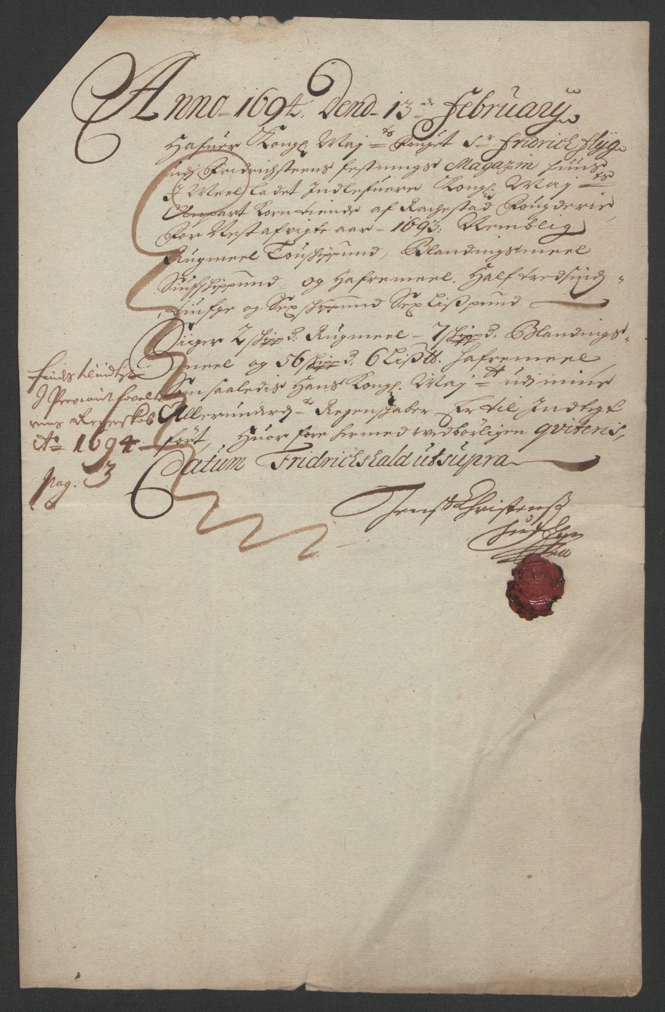 RA, Rentekammeret inntil 1814, Reviderte regnskaper, Fogderegnskap, R05/L0278: Fogderegnskap Rakkestad, 1691-1693, s. 530