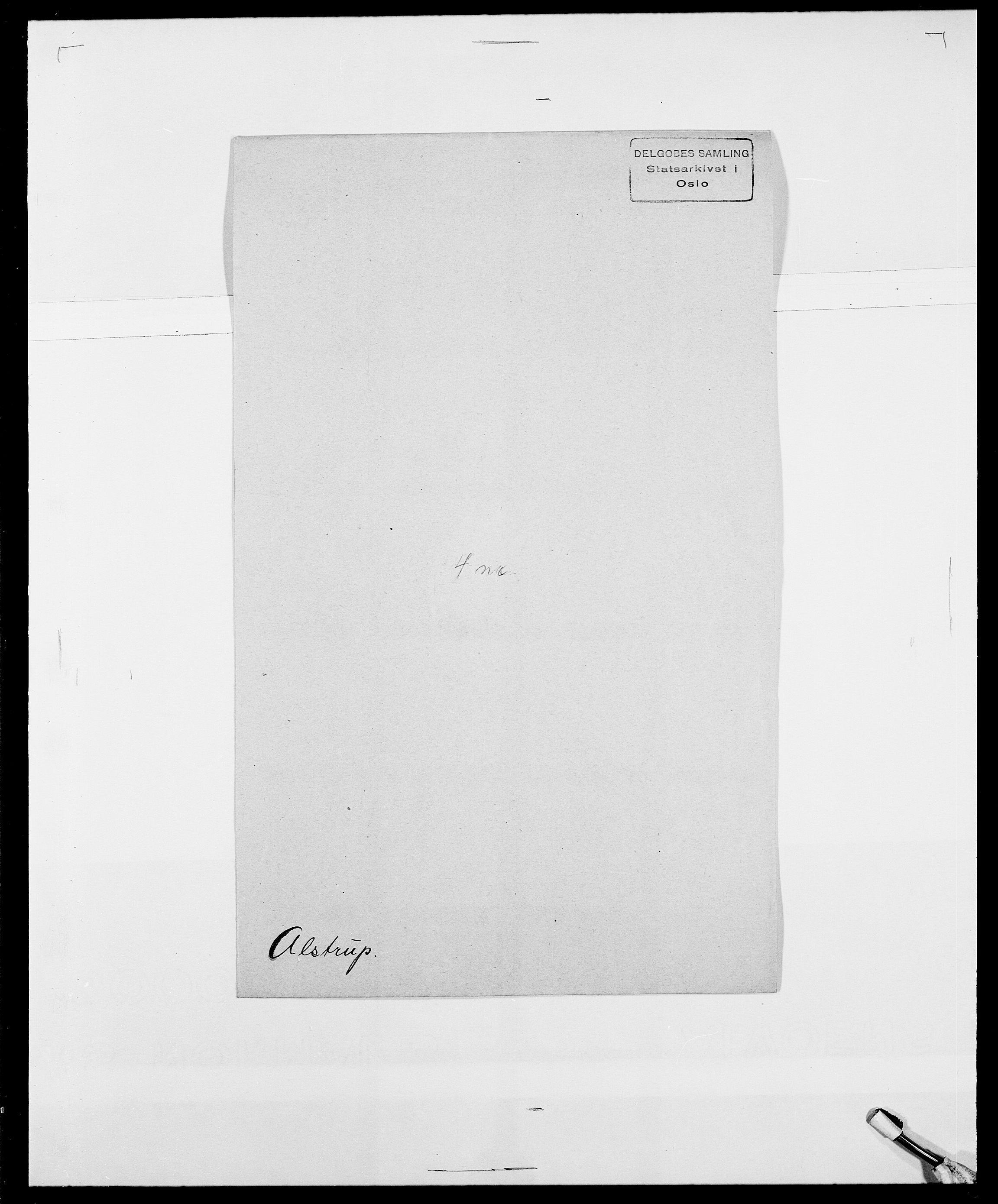 SAO, Delgobe, Charles Antoine - samling, D/Da/L0001: Aabye - Angerman, s. 473