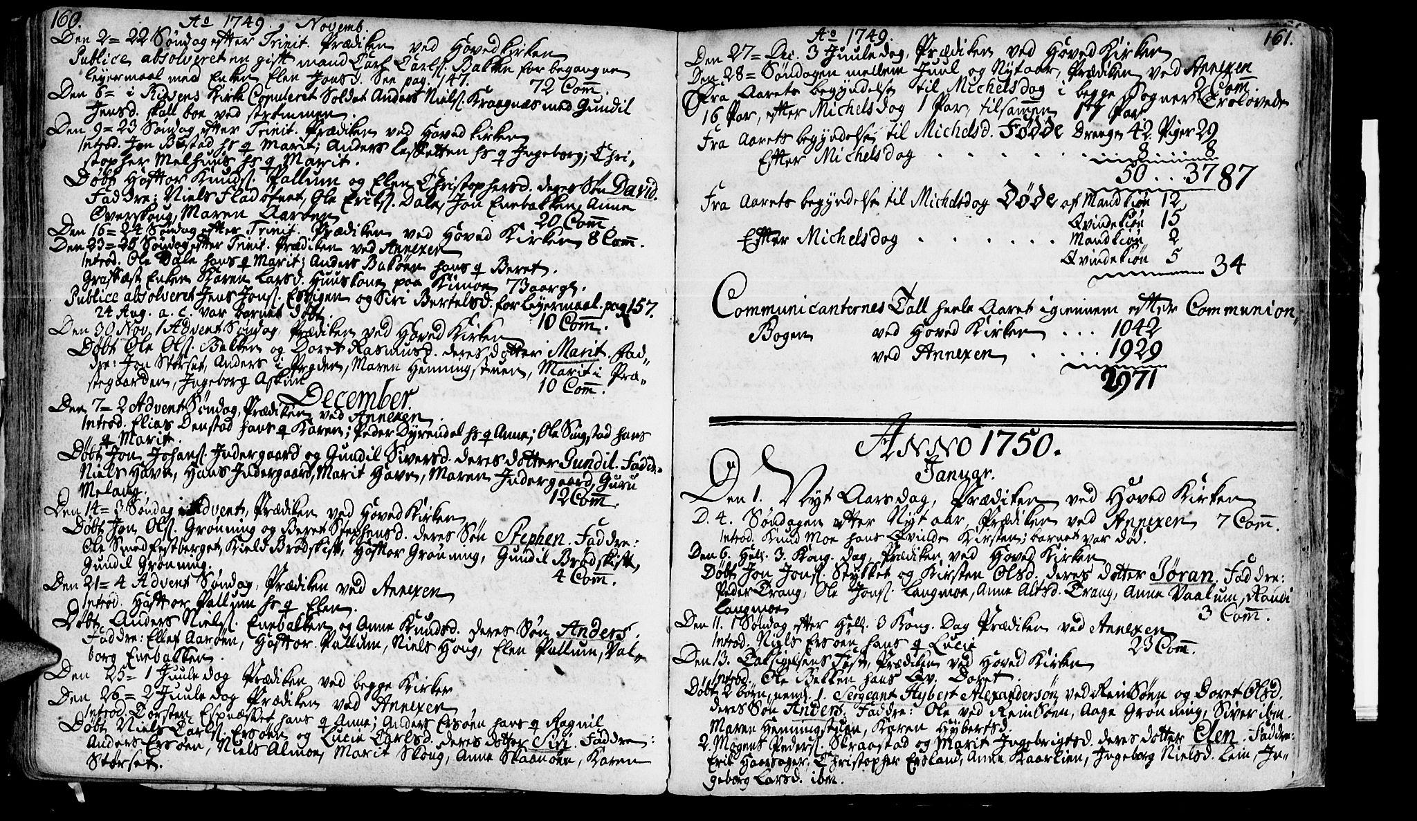 SAT, Ministerialprotokoller, klokkerbøker og fødselsregistre - Sør-Trøndelag, 646/L0604: Ministerialbok nr. 646A02, 1735-1750, s. 160-161