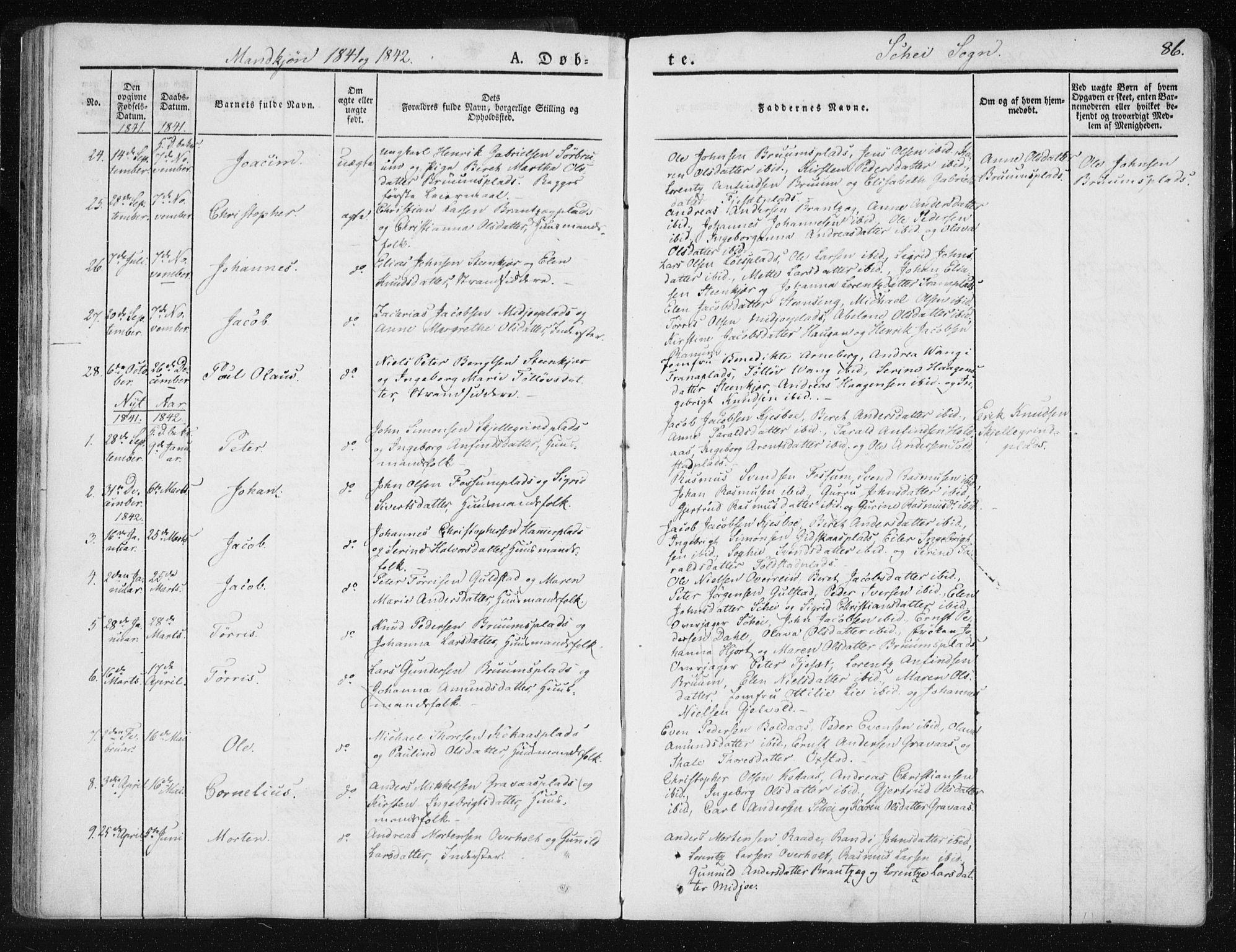 SAT, Ministerialprotokoller, klokkerbøker og fødselsregistre - Nord-Trøndelag, 735/L0339: Ministerialbok nr. 735A06 /2, 1836-1848, s. 86