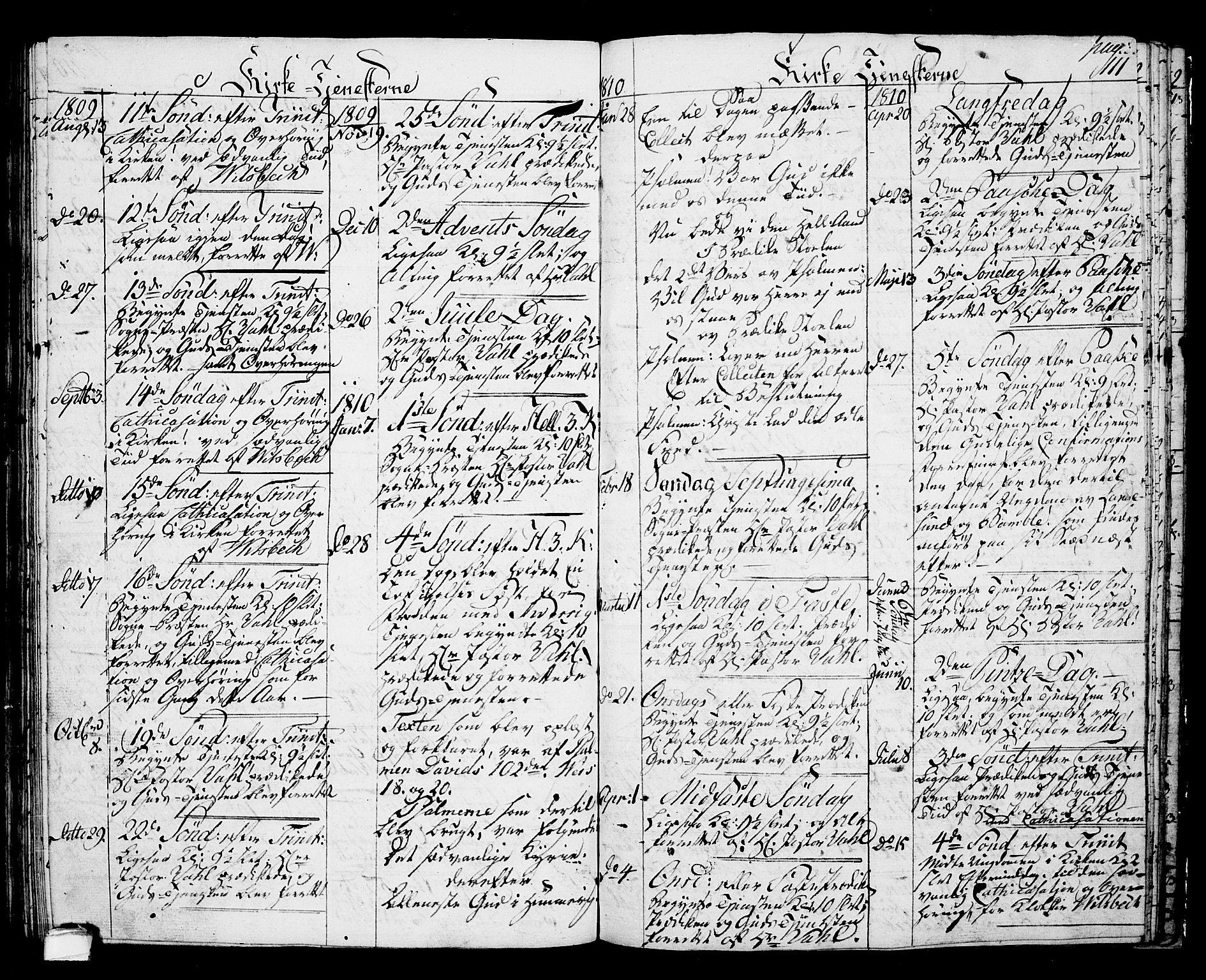 SAKO, Langesund kirkebøker, G/Ga/L0002: Klokkerbok nr. 2, 1801-1815, s. 111