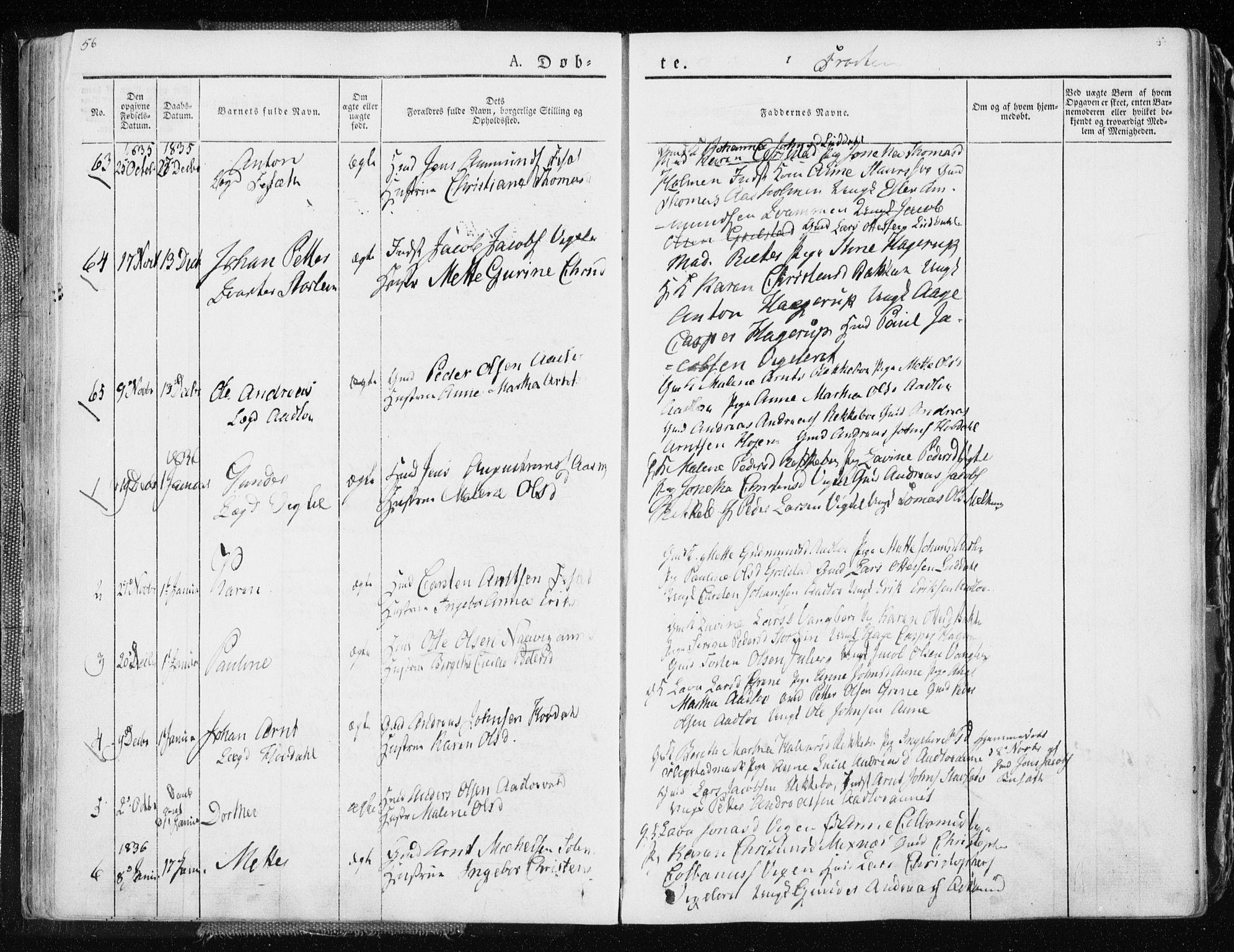 SAT, Ministerialprotokoller, klokkerbøker og fødselsregistre - Nord-Trøndelag, 713/L0114: Ministerialbok nr. 713A05, 1827-1839, s. 56