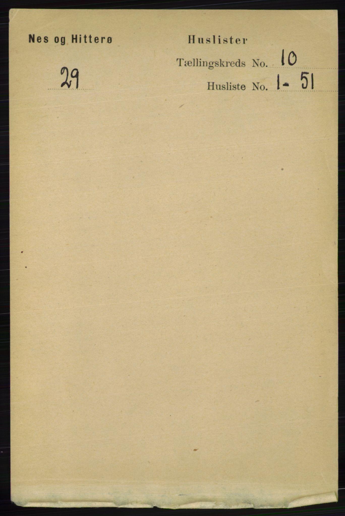 RA, Folketelling 1891 for 1043 Hidra og Nes herred, 1891, s. 4086