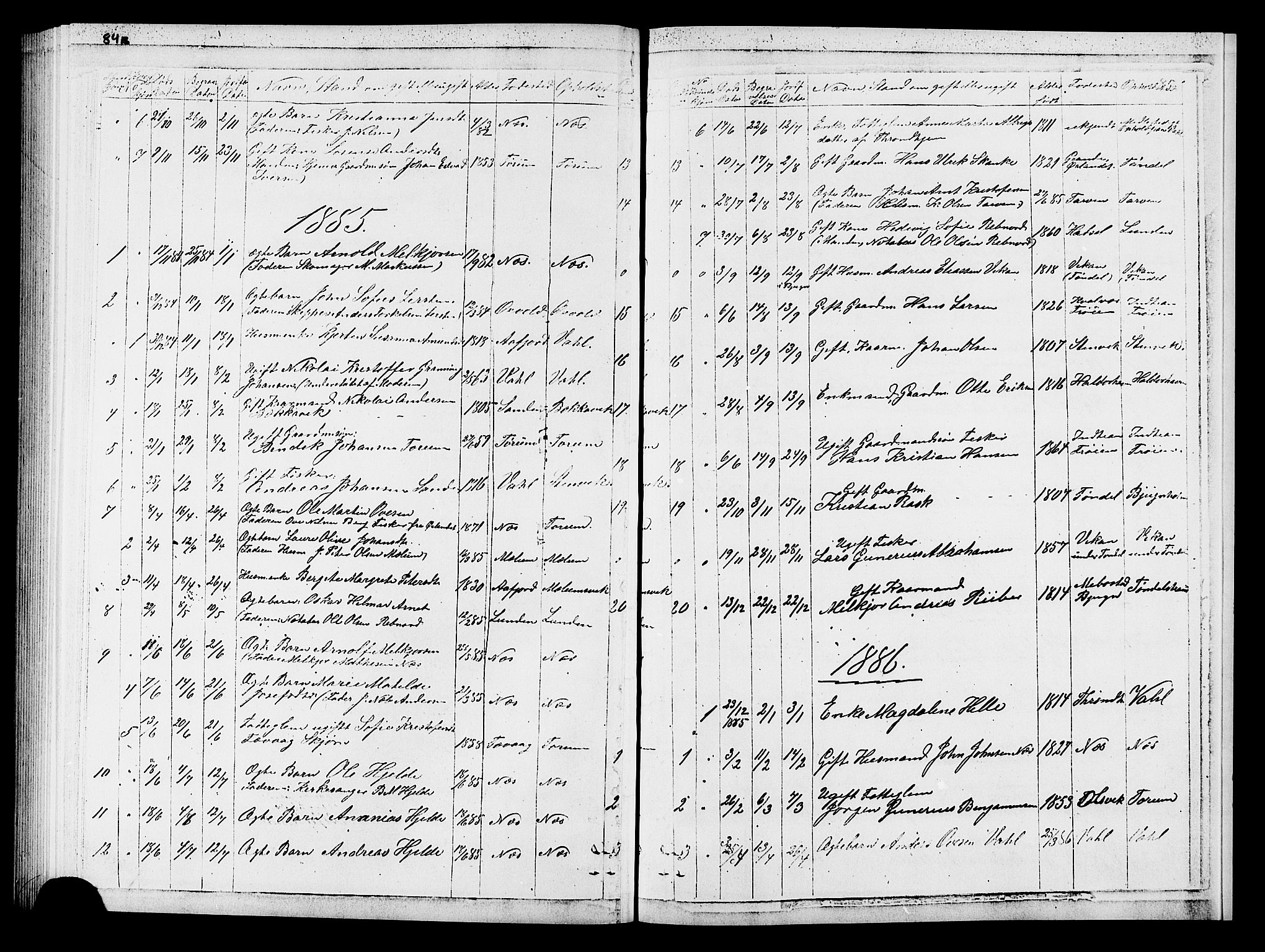 SAT, Ministerialprotokoller, klokkerbøker og fødselsregistre - Sør-Trøndelag, 652/L0653: Klokkerbok nr. 652C01, 1866-1910, s. 85